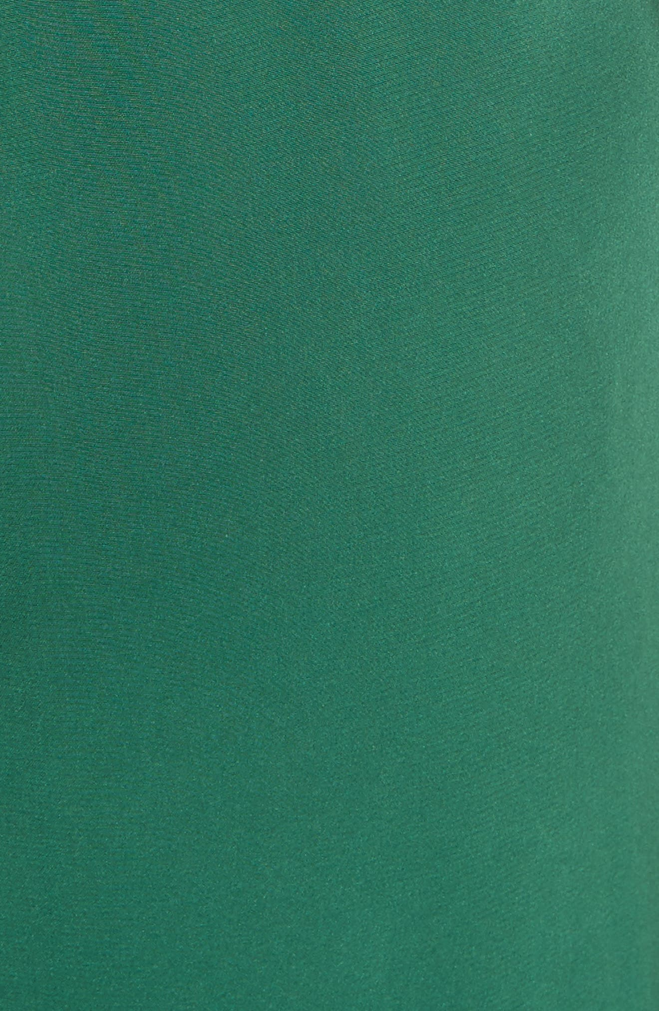 Ruffle Silk Jumpsuit,                             Alternate thumbnail 5, color,                             GREEN