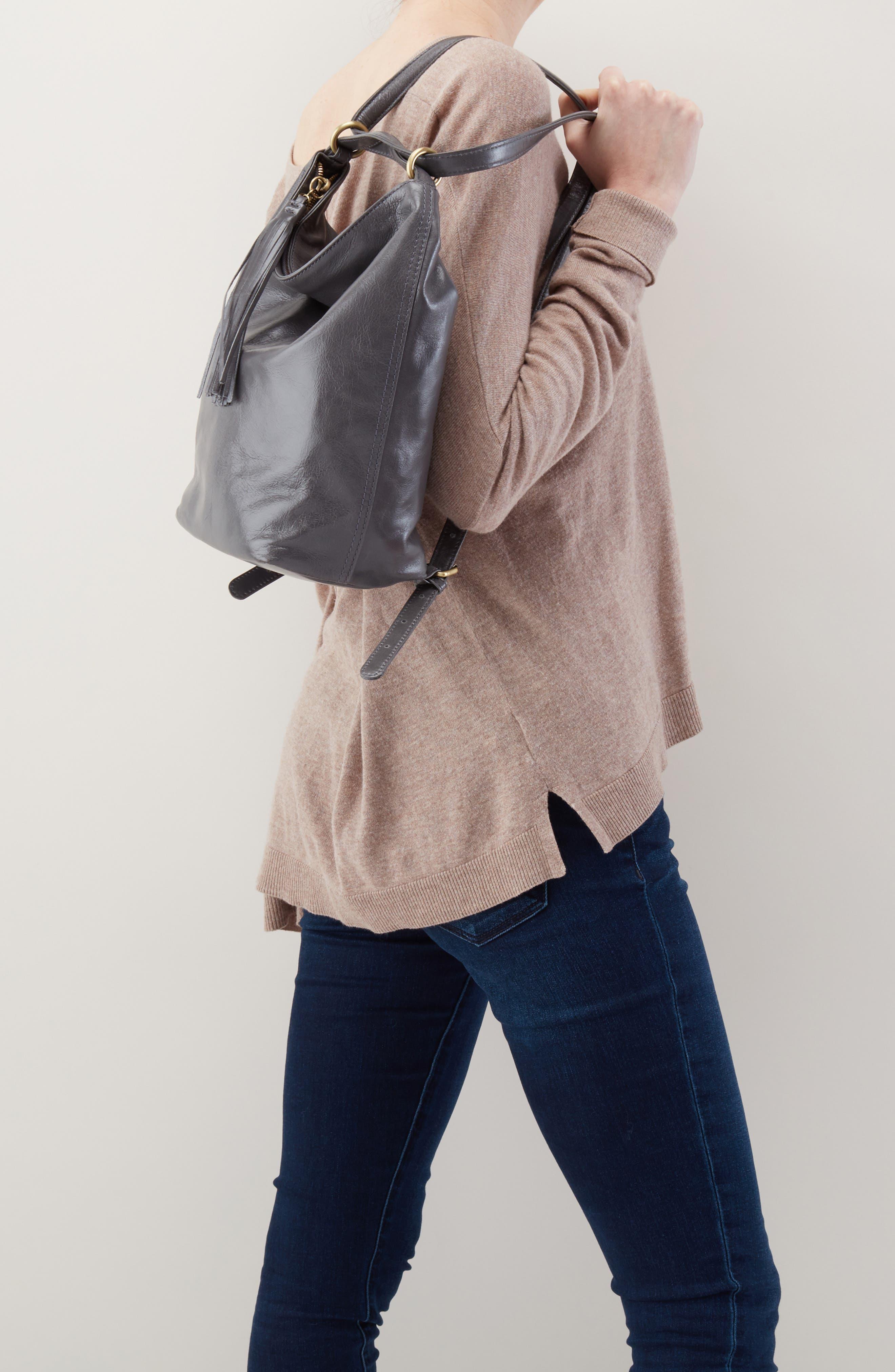 Blaze Convertible Shoulder Bag,                             Alternate thumbnail 5, color,                             GRAPHITE