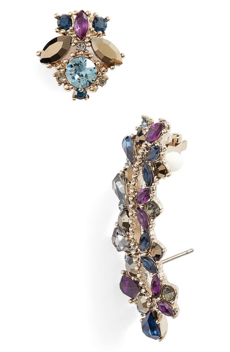 Marchesa Ear Crawler & Stud Mismatched Earring