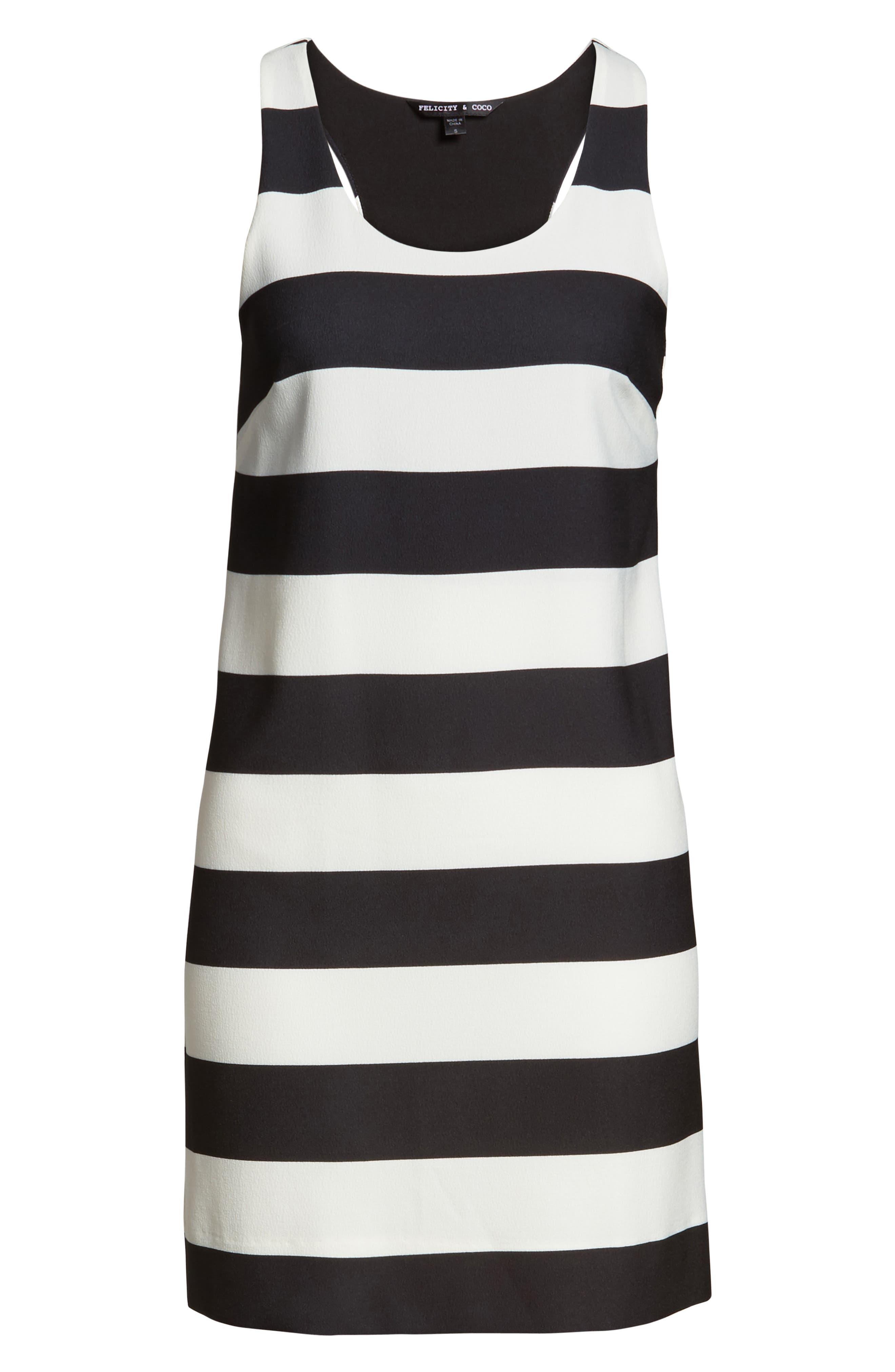 Sandy A-Line Dress,                             Alternate thumbnail 6, color,                             002