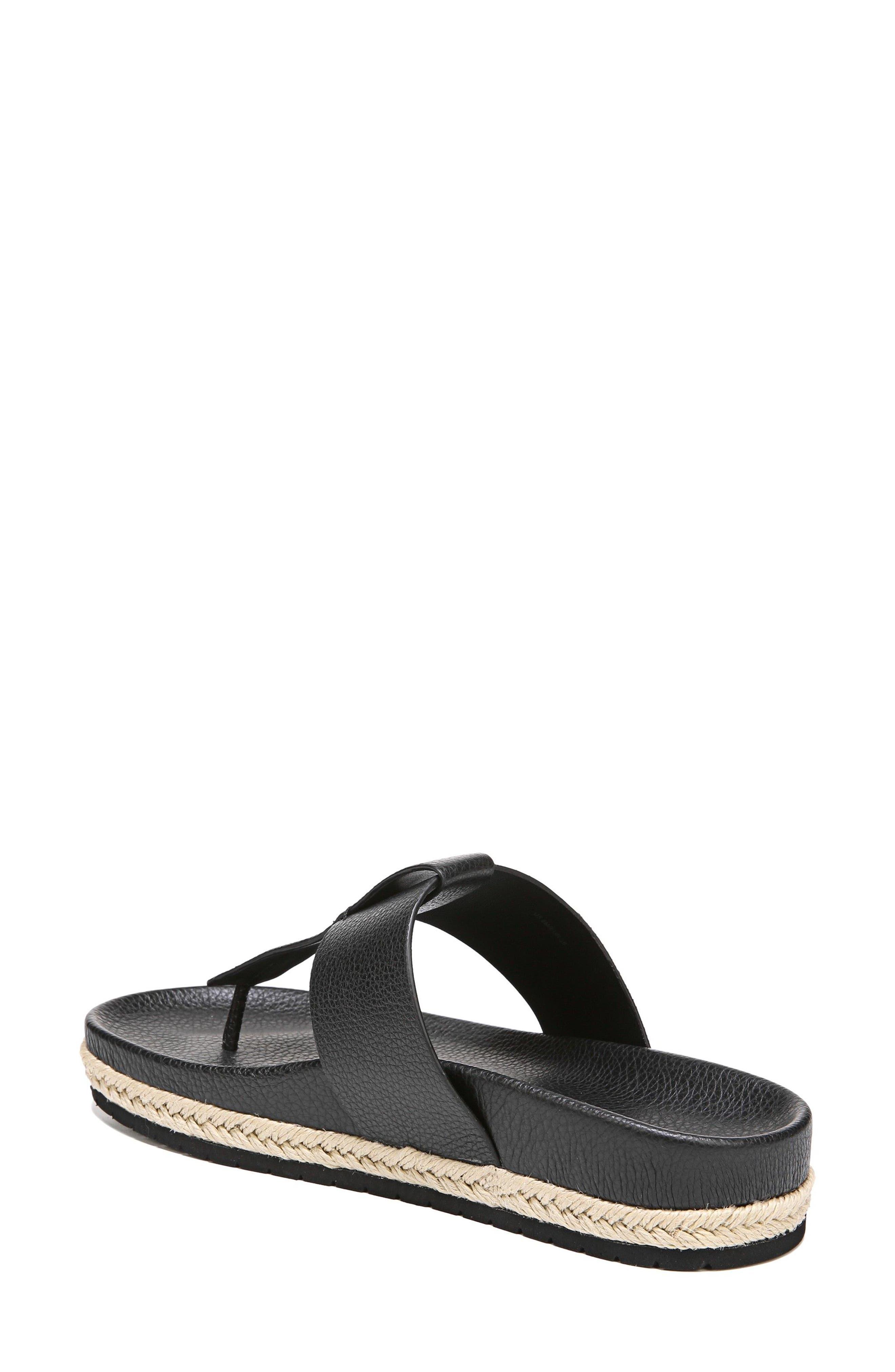 Avani T-Strap Flat Sandal,                             Alternate thumbnail 2, color,                             001