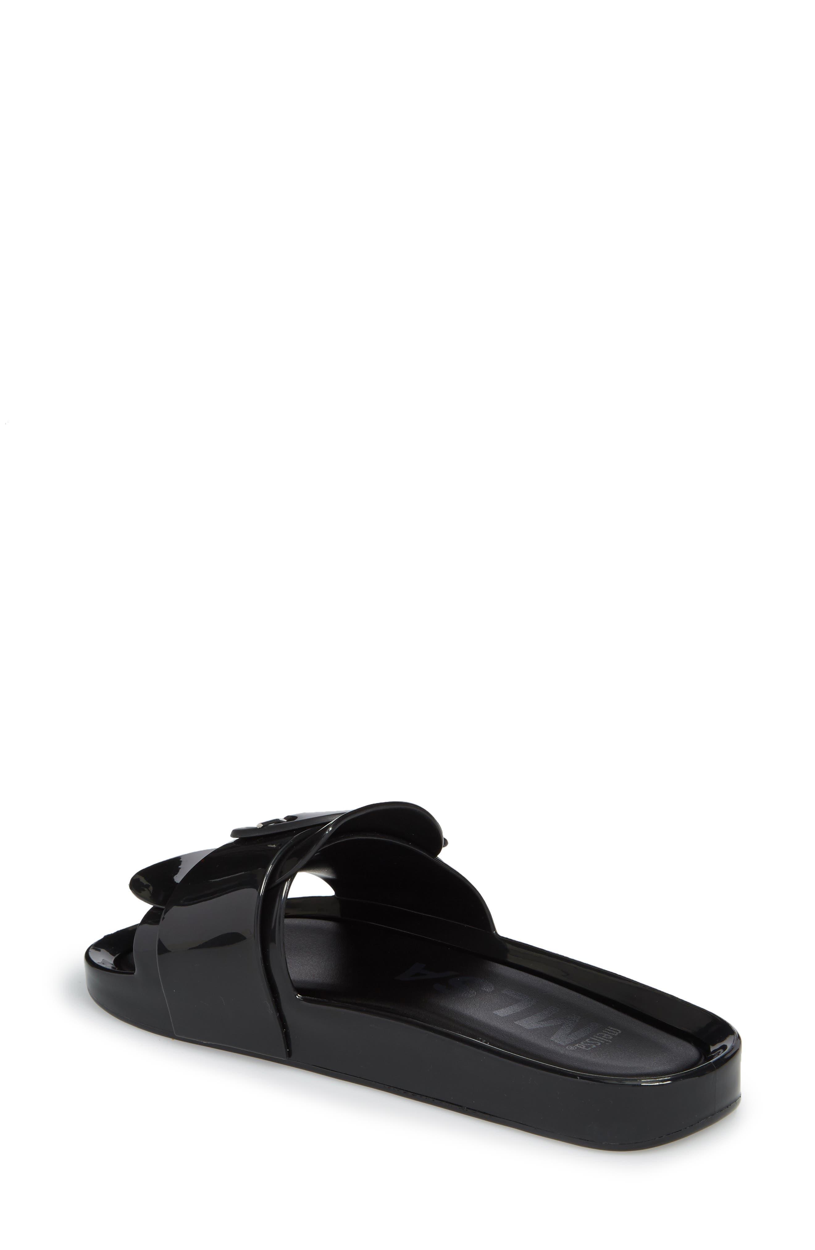 Beach Slide Sandal,                             Alternate thumbnail 2, color,                             BLACK