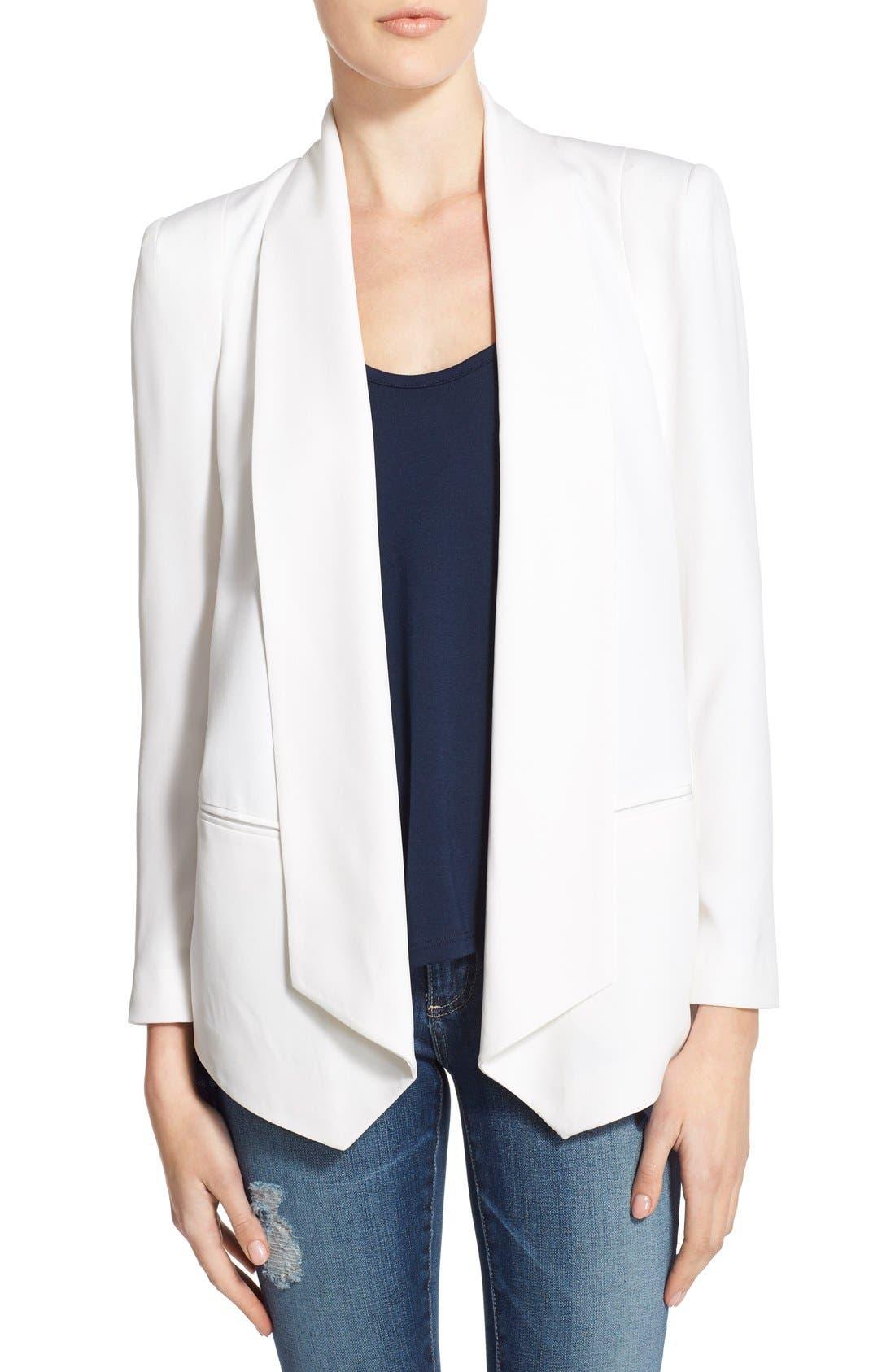 'Becky' Silk Blazer, Main, color, 900