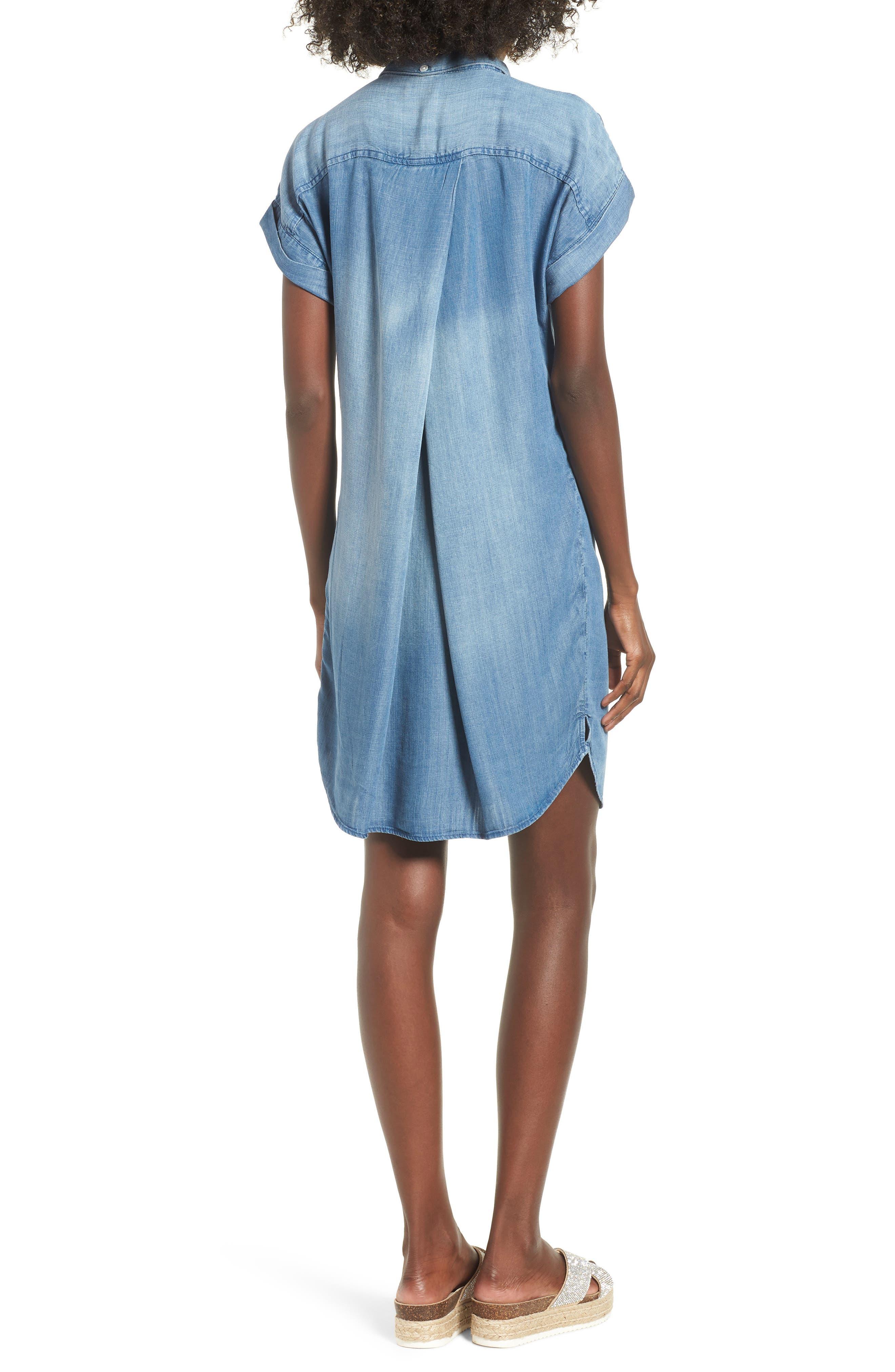 Reagan Chambray Dress,                             Alternate thumbnail 2, color,                             400