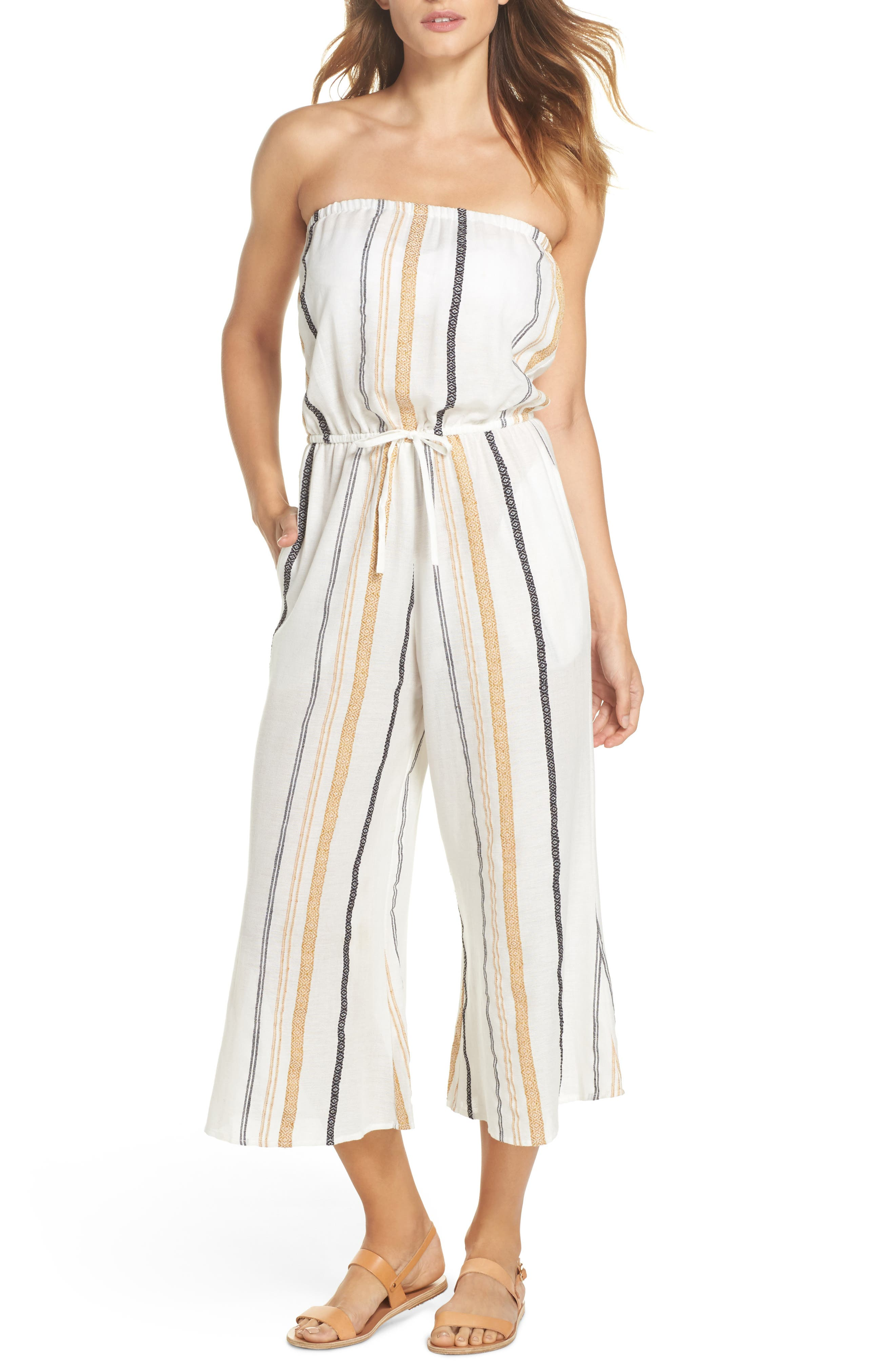 Strapless Cover-Up Jumpsuit,                         Main,                         color, 250