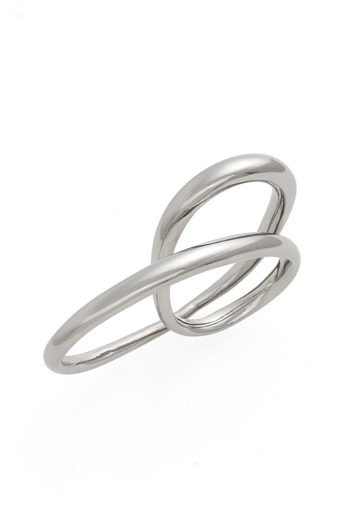 'Heart' Ring,                             Main thumbnail 1, color,                             ARGENT