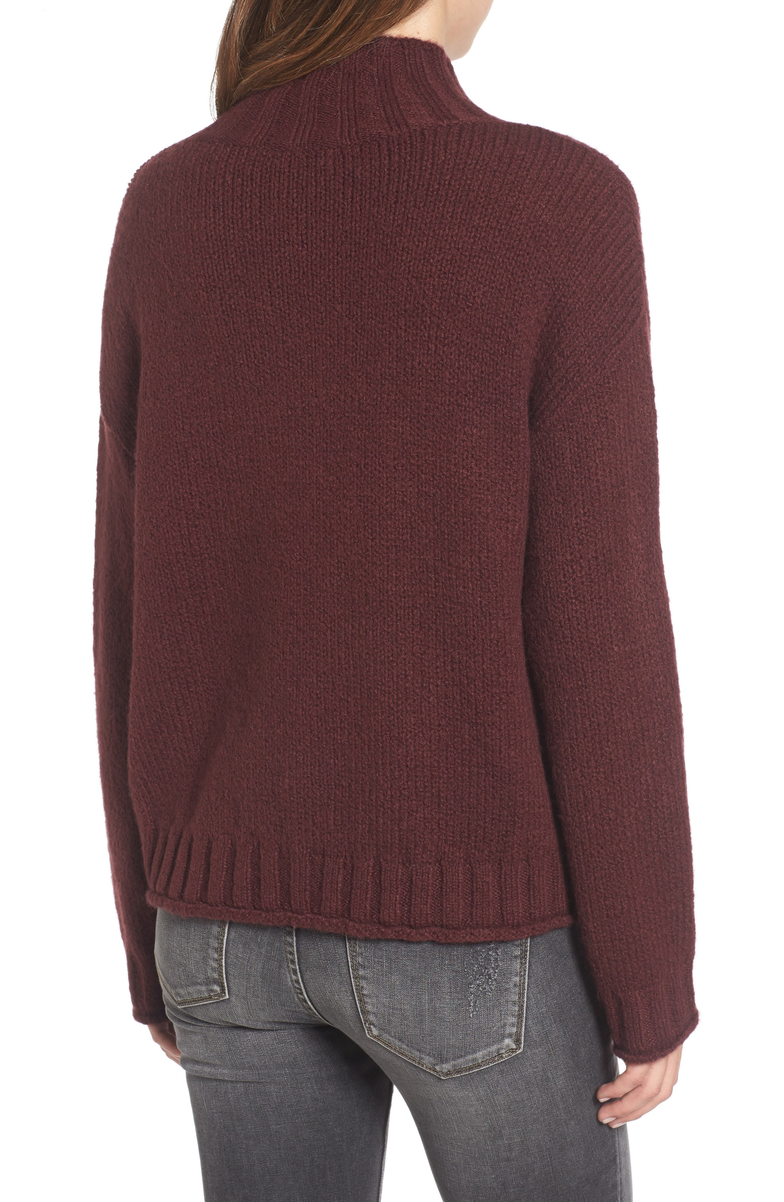 Cozy Mock Neck Sweater,                             Alternate thumbnail 14, color,