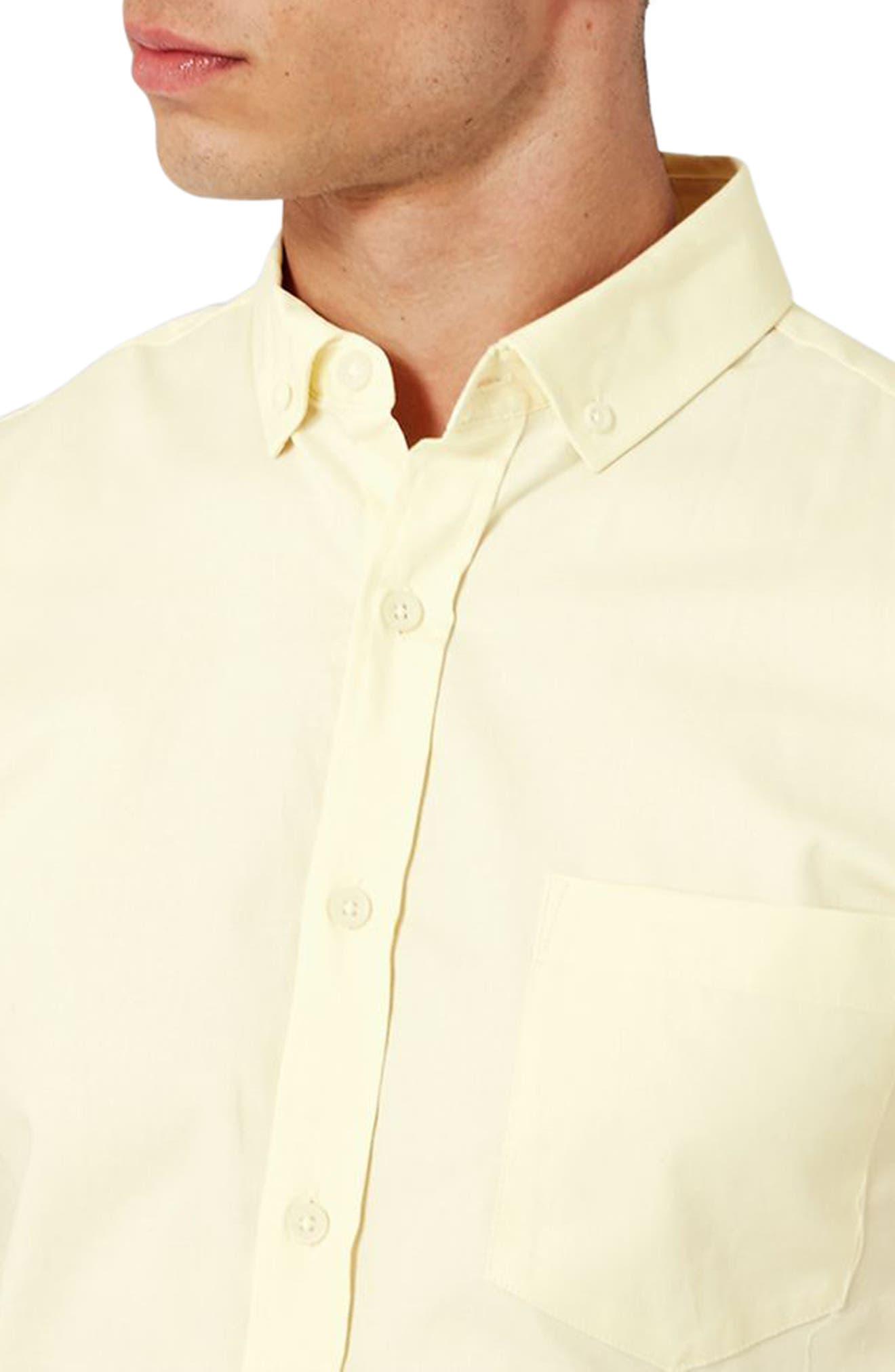 Slim Fit Stretch Oxford Shirt,                             Alternate thumbnail 6, color,