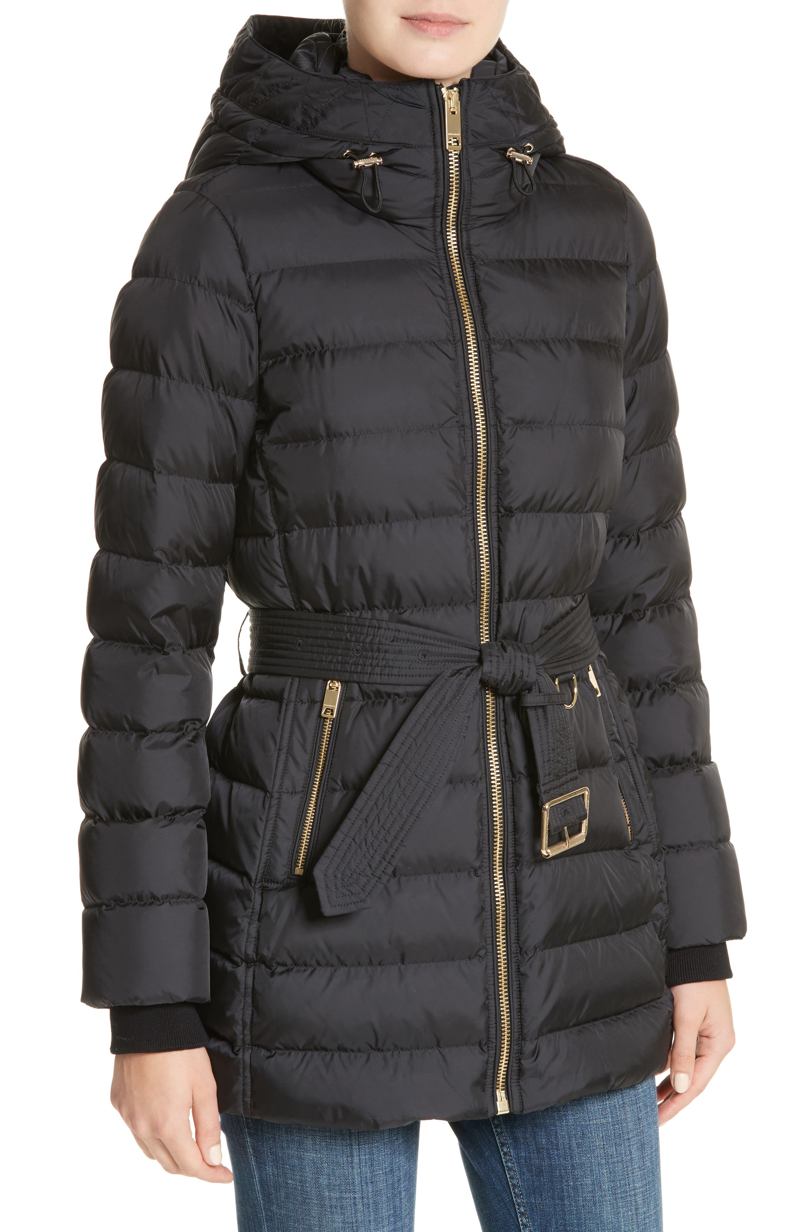 Limefield Hooded Puffer Coat,                             Alternate thumbnail 4, color,                             001