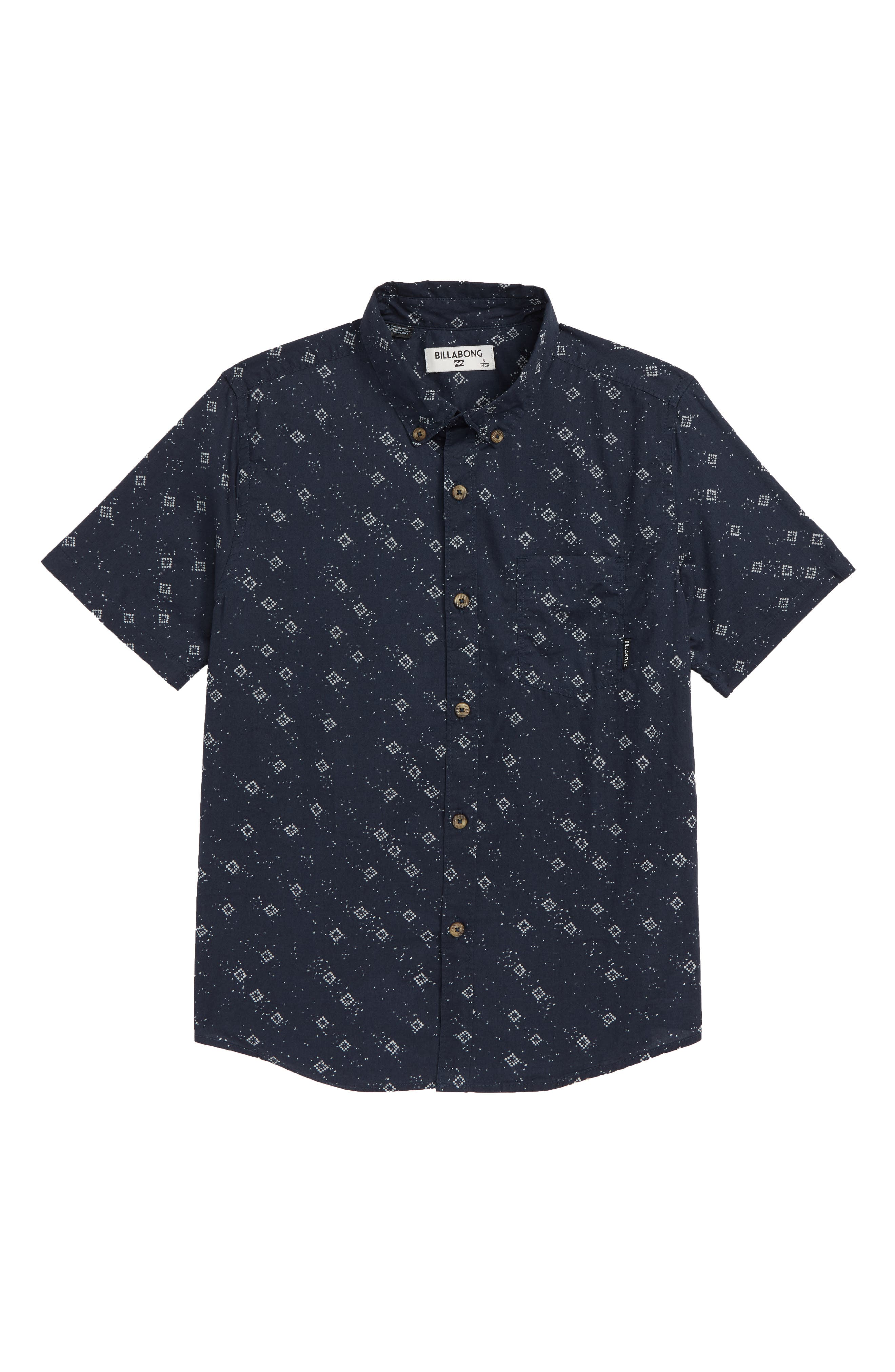 Sundays Print Woven Shirt,                         Main,                         color, 410