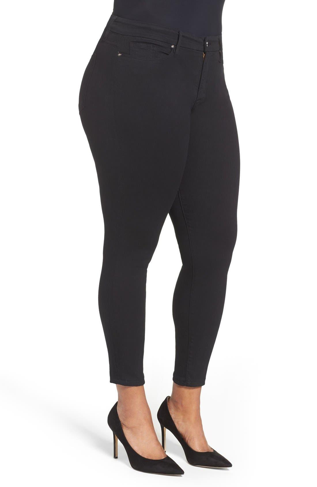 Good Legs High Rise Skinny Jeans,                             Alternate thumbnail 4, color,                             BLACK 001