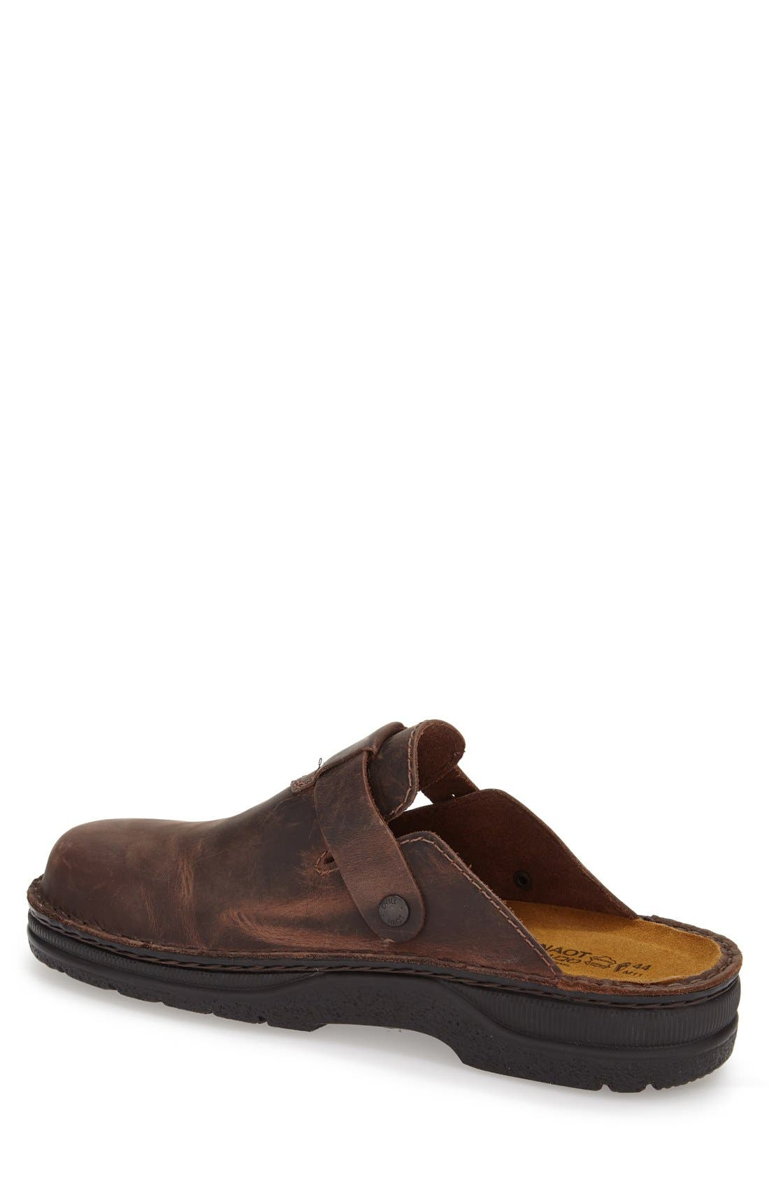 Fiord Clog,                             Alternate thumbnail 2, color,                             BROWN LEATHER