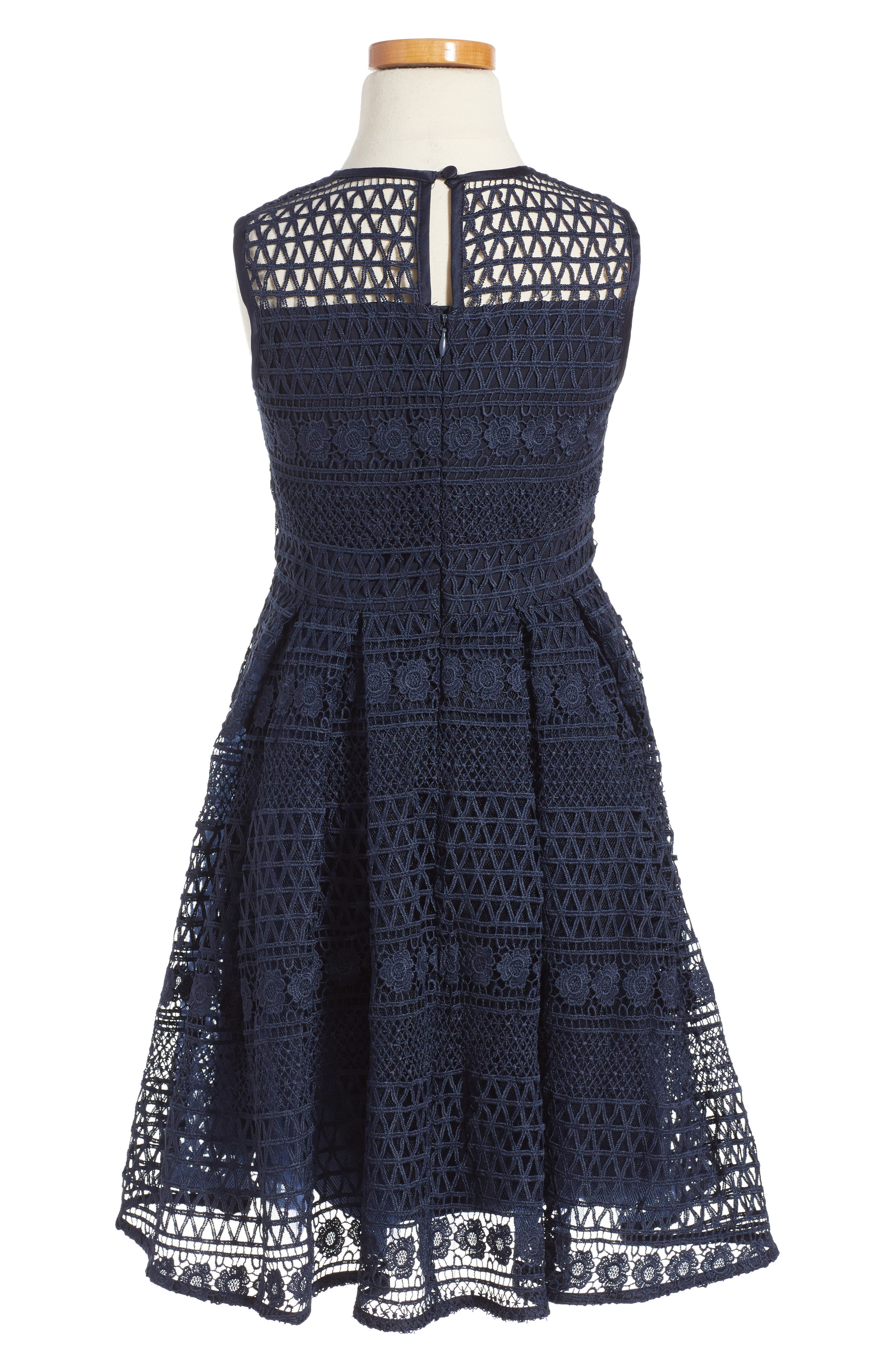 Linear Lace Dress,                             Main thumbnail 2, color,