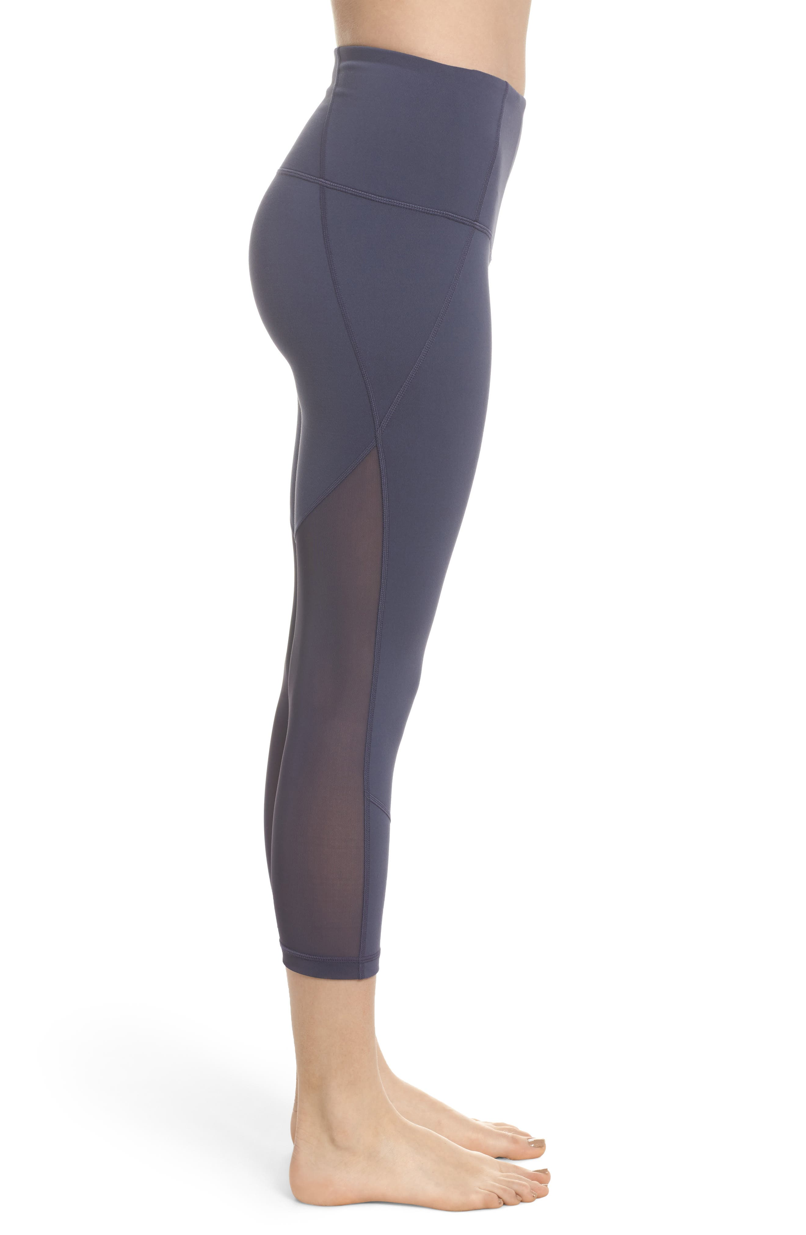 'Live In - Sultry' High Waist Mesh Crop Leggings,                             Alternate thumbnail 25, color,