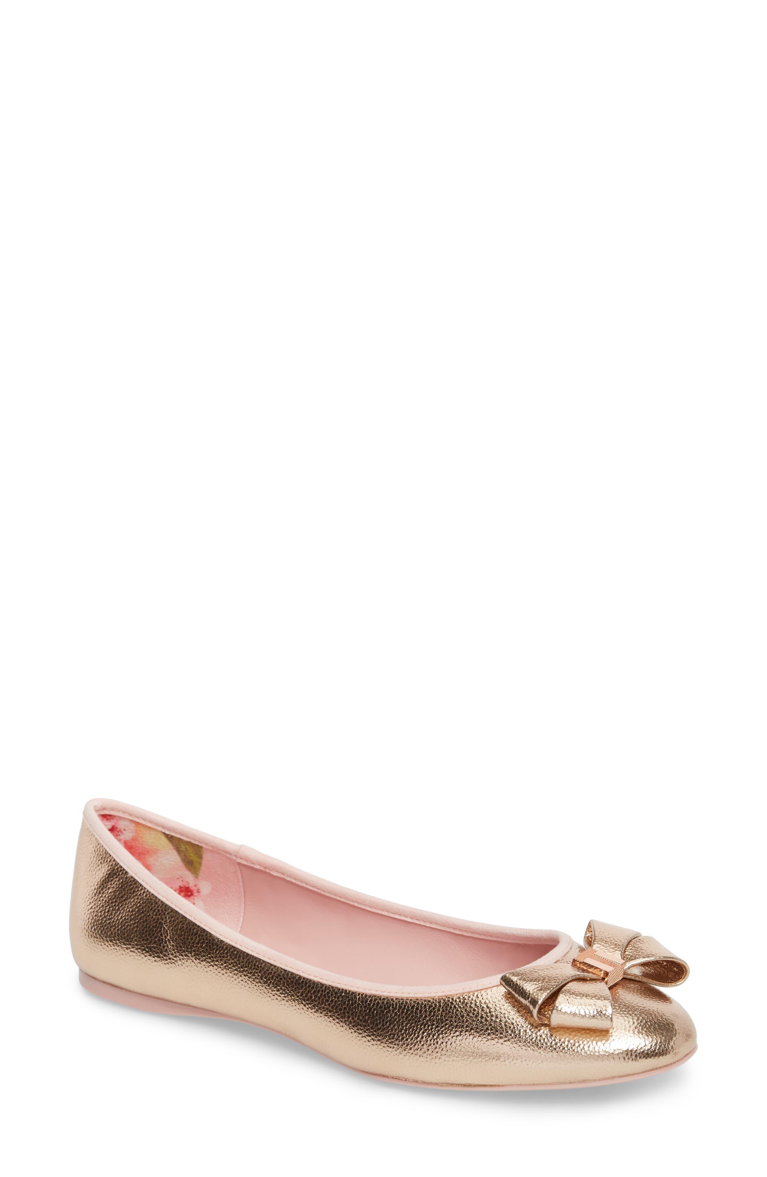 Immet Ballet Flat,                             Main thumbnail 1, color,                             ROSE GOLD