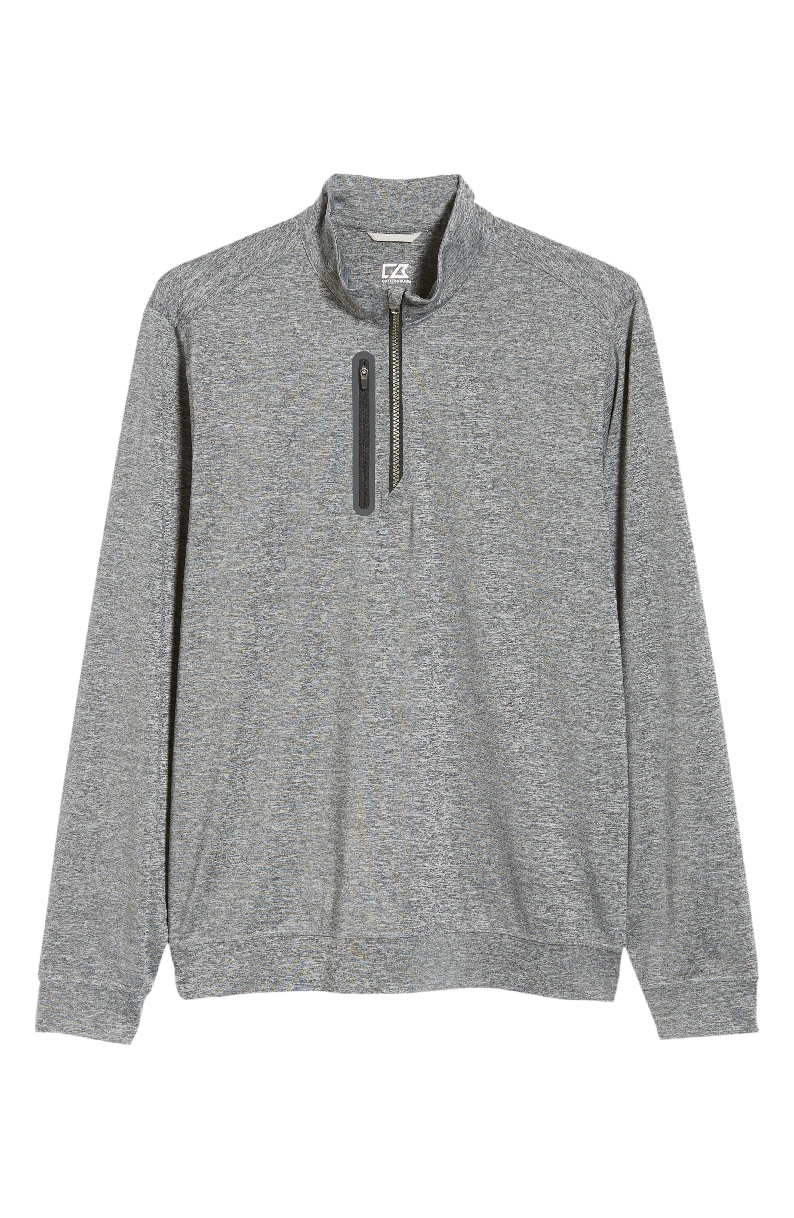 Stealth Regular Fit Half Zip Pullover,                             Alternate thumbnail 6, color,                             ELEMENTAL GREY