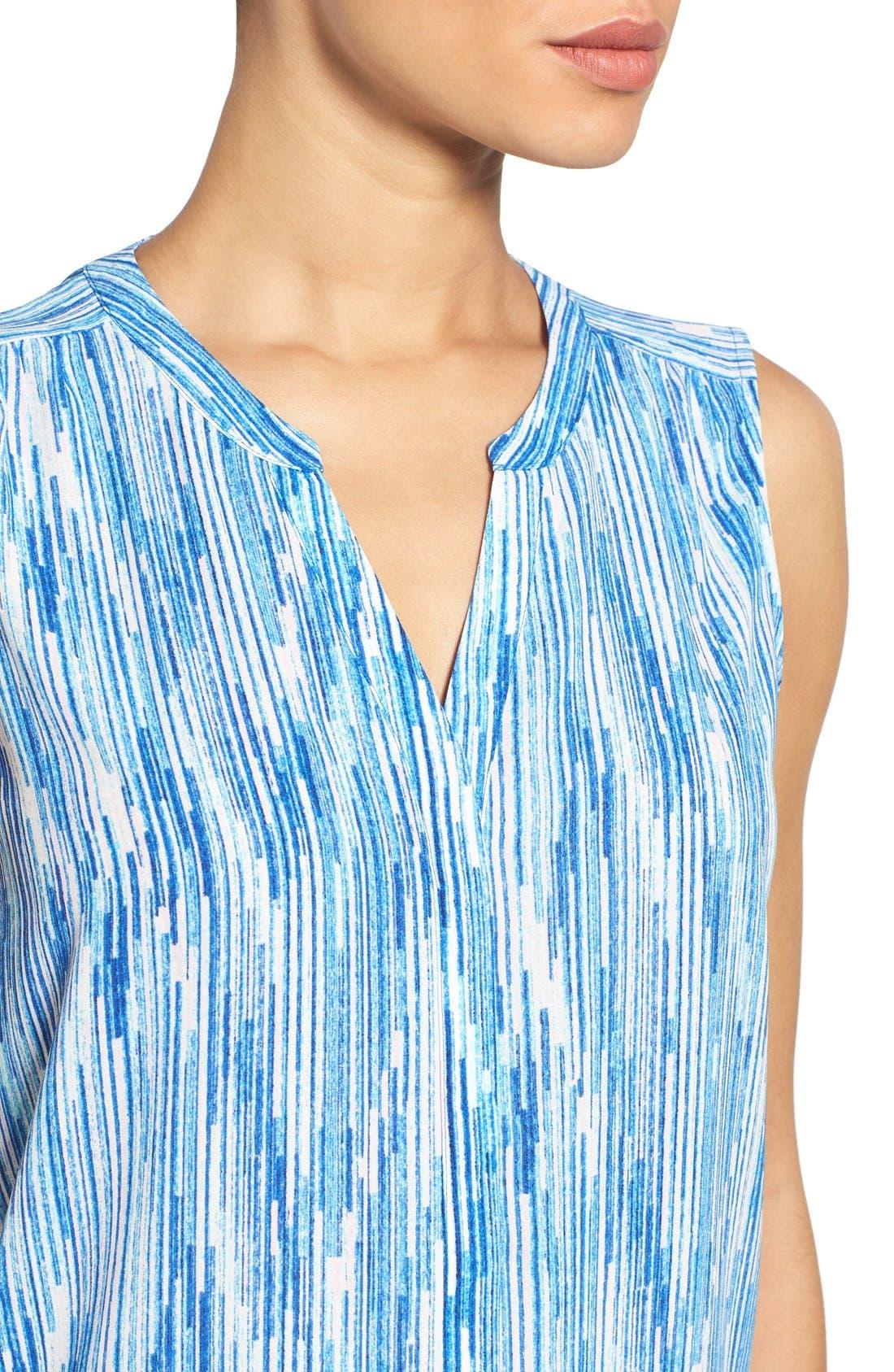 Pleat Back Sleeveless Split Neck Blouse,                             Alternate thumbnail 265, color,