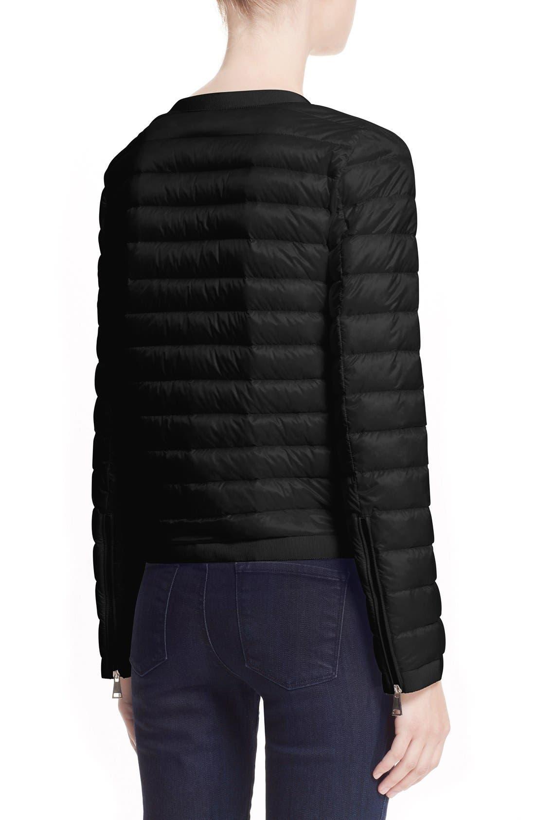 'Alose' Water Resistant Short Puffer Jacket,                             Alternate thumbnail 3, color,                             001