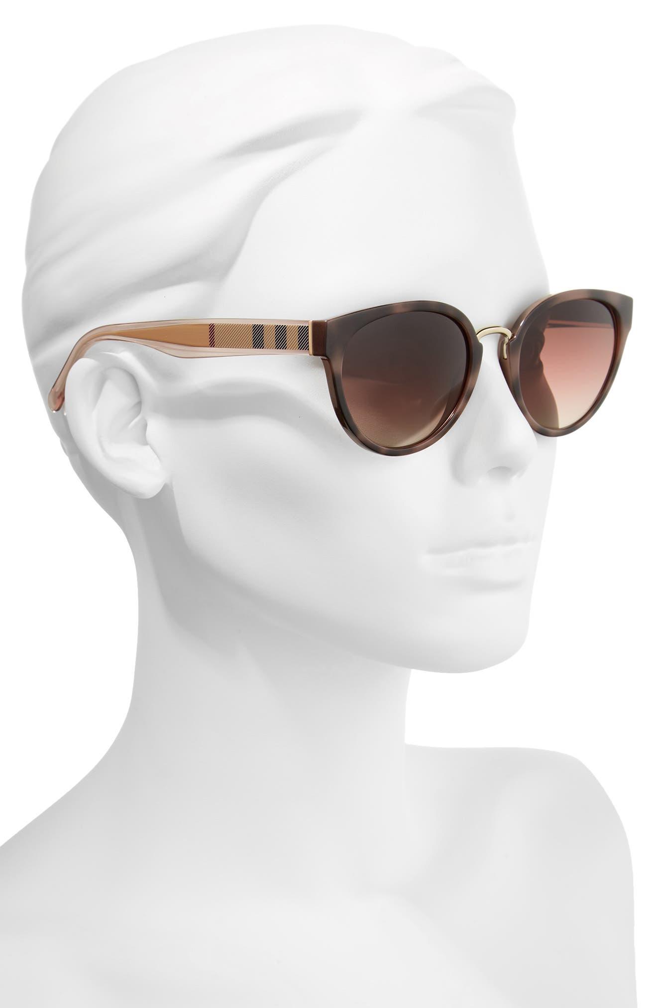 53mm Gradient Cat Eye Sunglasses,                             Alternate thumbnail 7, color,