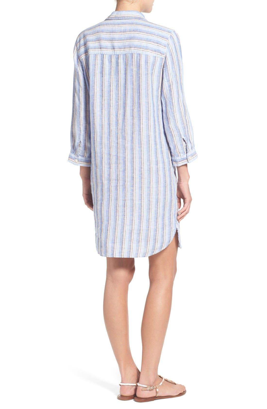 Linen Shirtdress,                             Alternate thumbnail 2, color,                             420