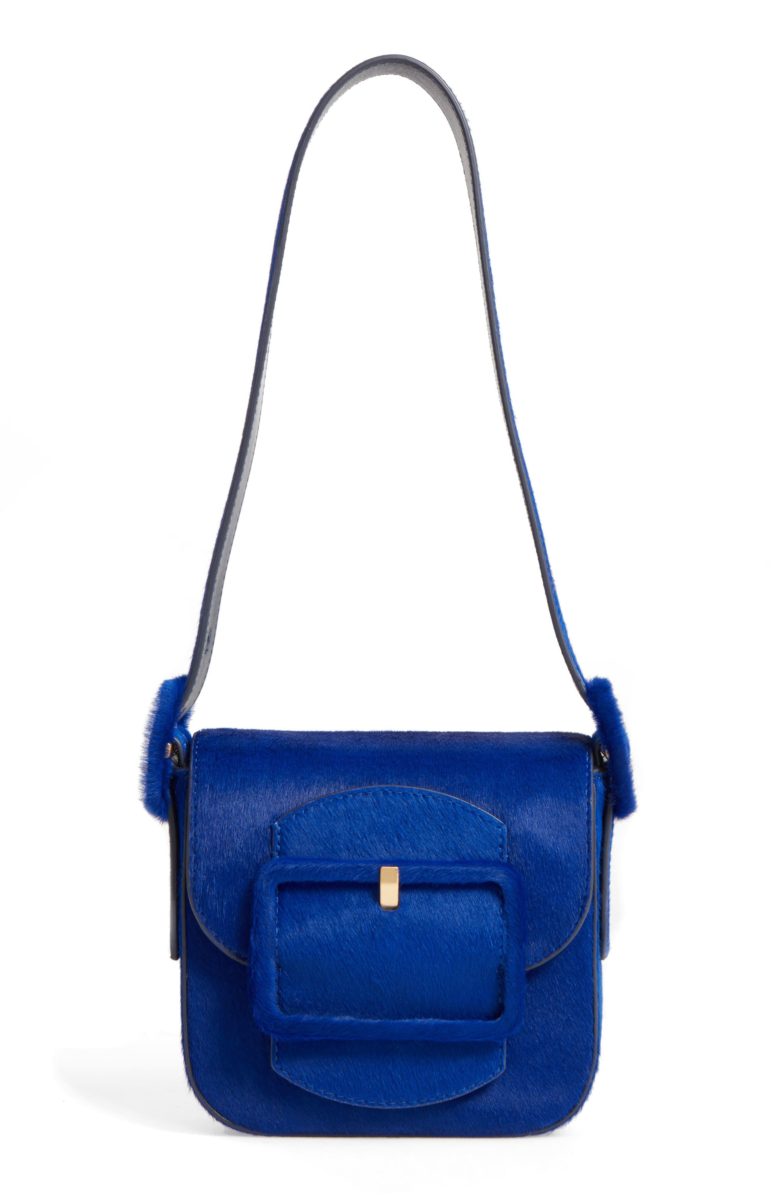 Mini Sawyer Genuine Calf Hair Shoulder Bag,                         Main,                         color, 418