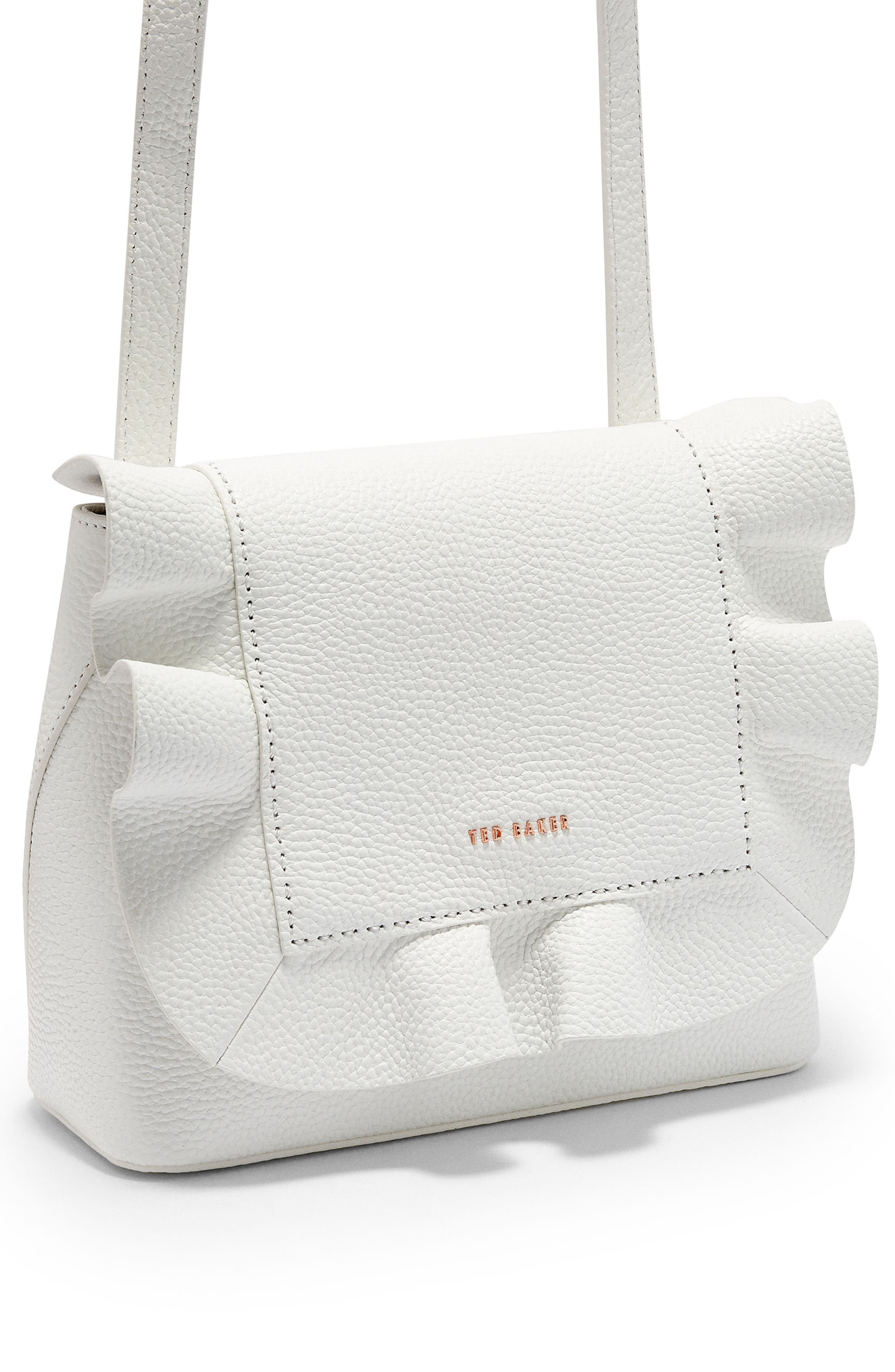 Rammira Leather Convertible Backpack,                             Alternate thumbnail 5, color,                             WHITE