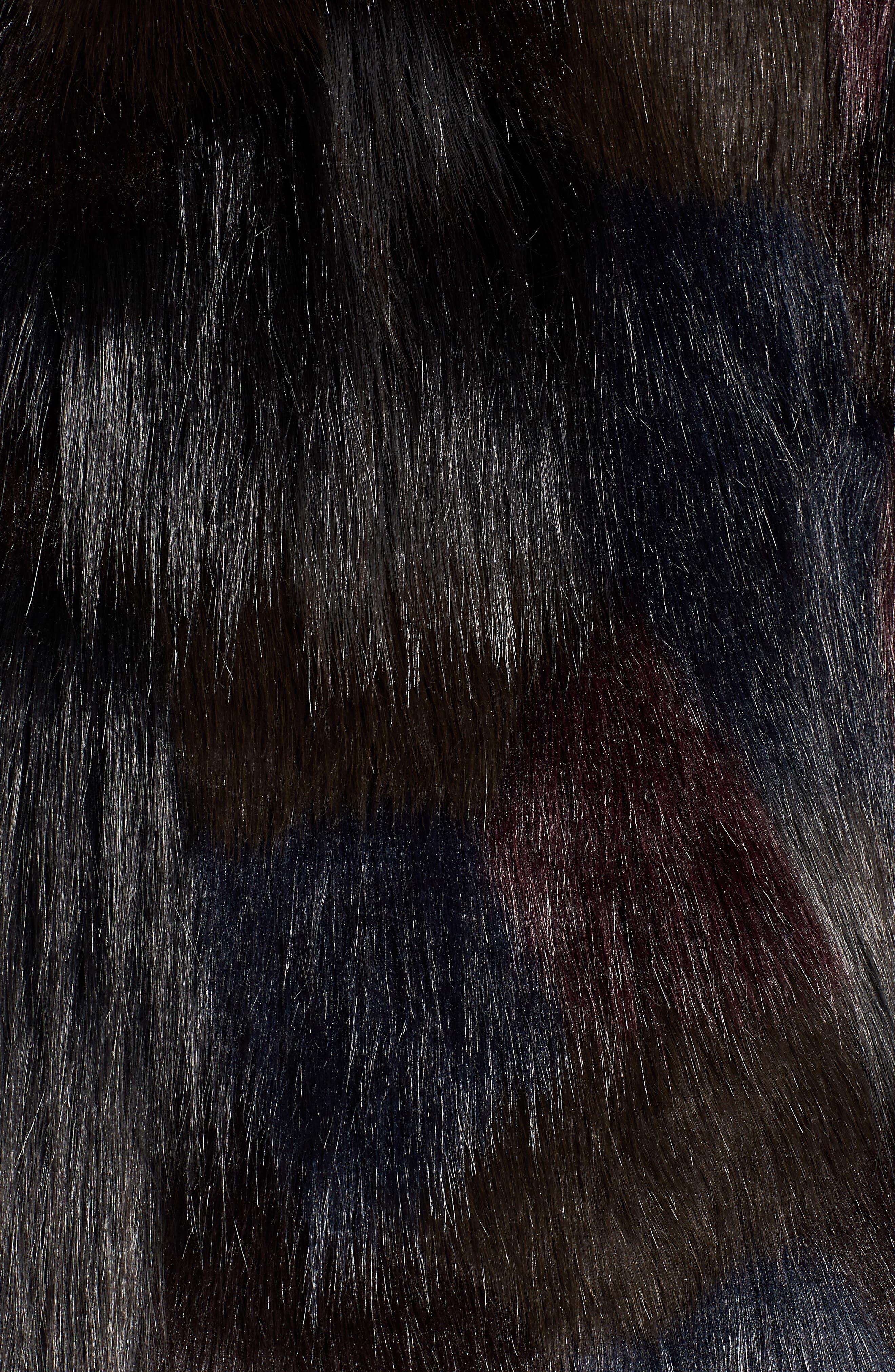 Multicolored Faux Fur Jacket,                             Alternate thumbnail 7, color,                             MULTI