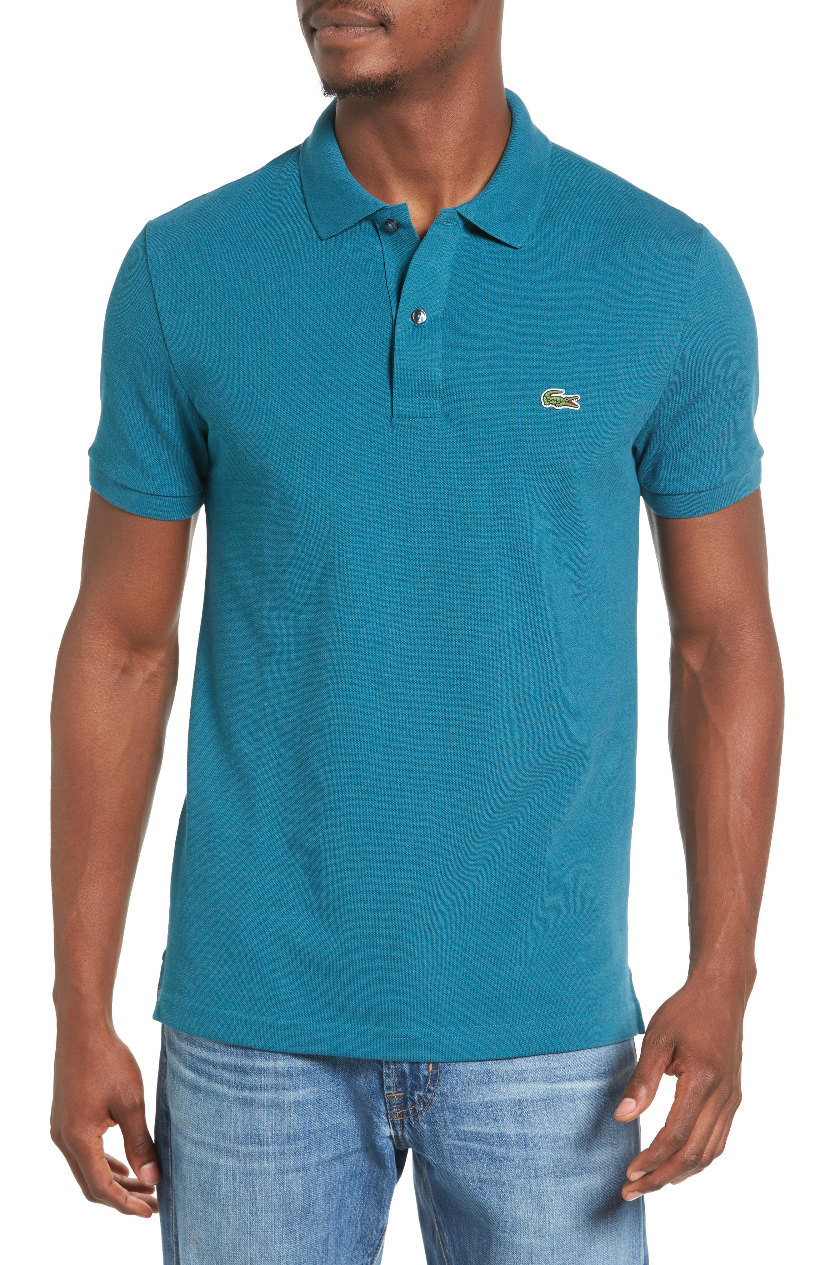 Slim Fit Piqué Polo,                             Main thumbnail 7, color,