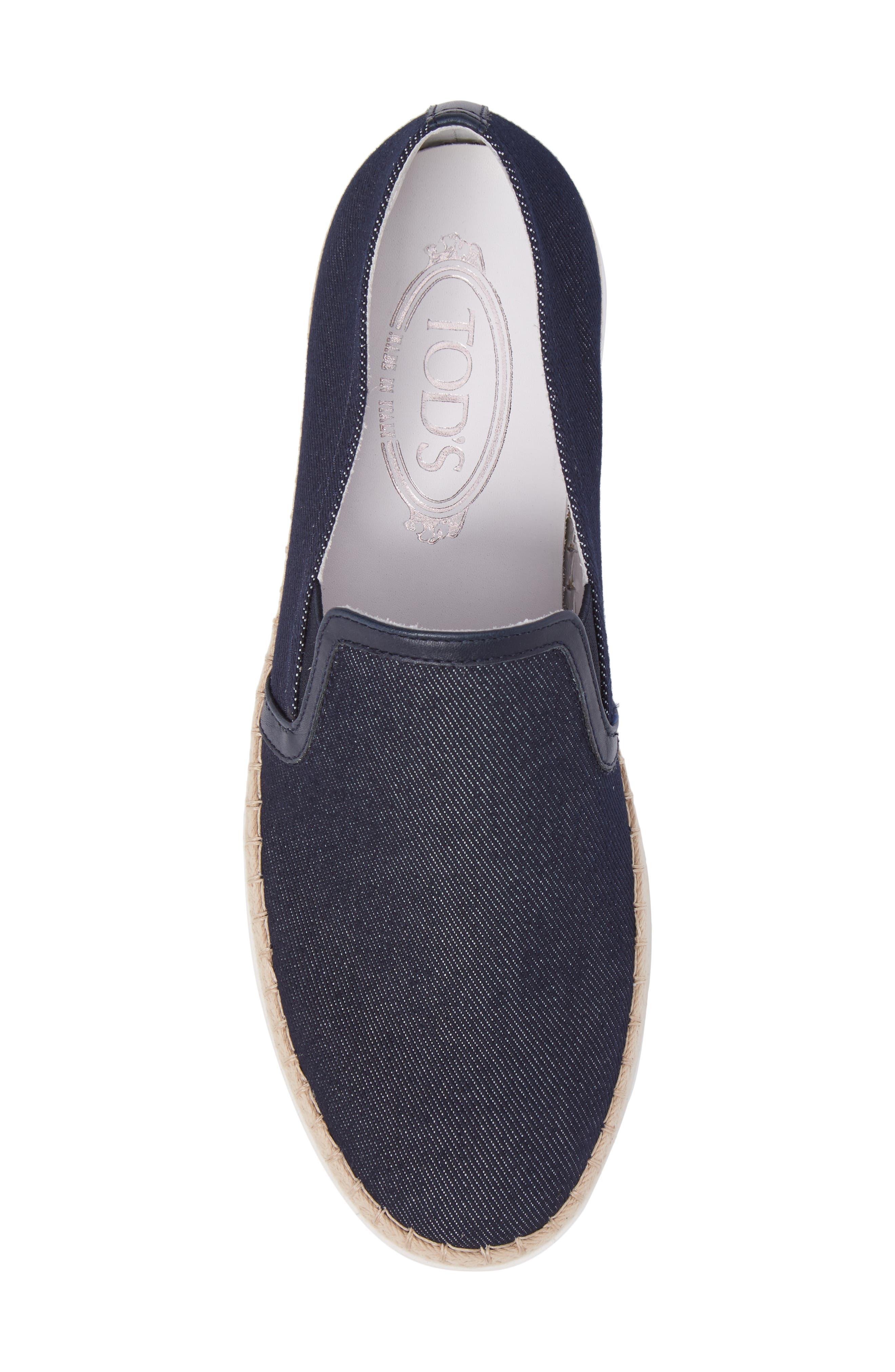 Espadrille Slip-On Sneaker,                             Alternate thumbnail 5, color,
