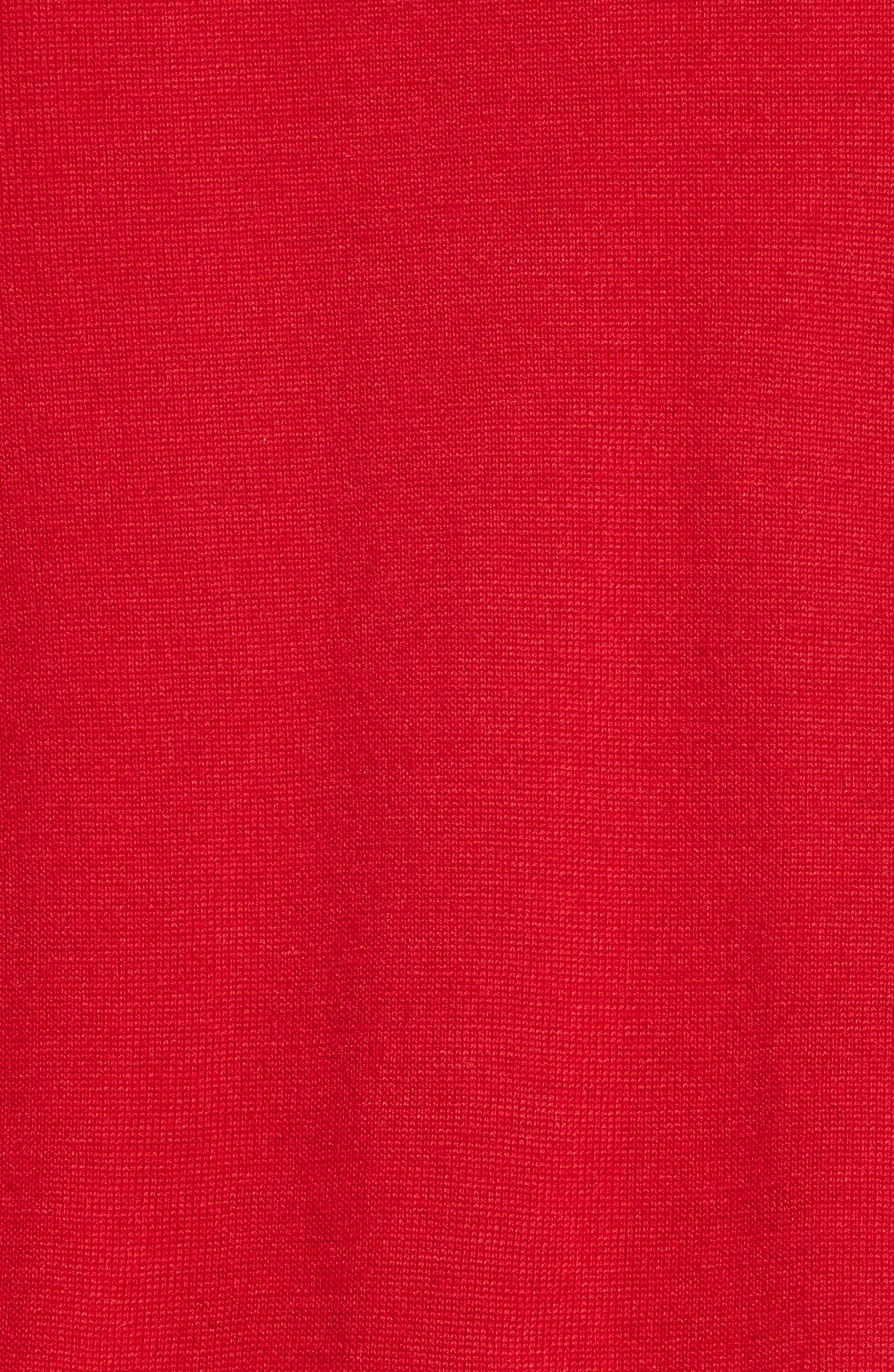 Felted Plait Merino, Silk & Cashmere Button Cardigan,                             Alternate thumbnail 5, color,                             600