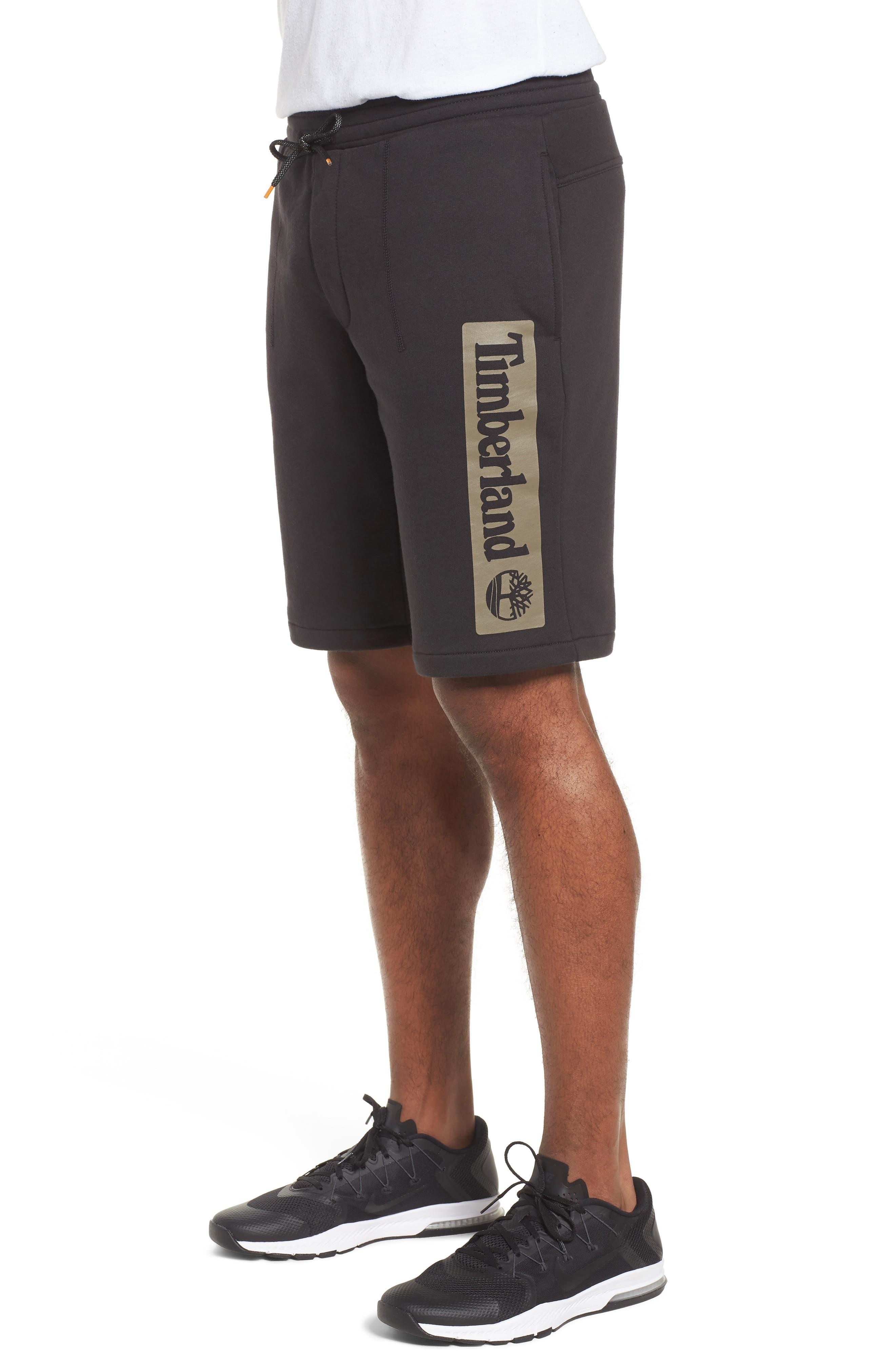 Logo Jogger Shorts,                             Alternate thumbnail 3, color,                             BLACK LINEAR