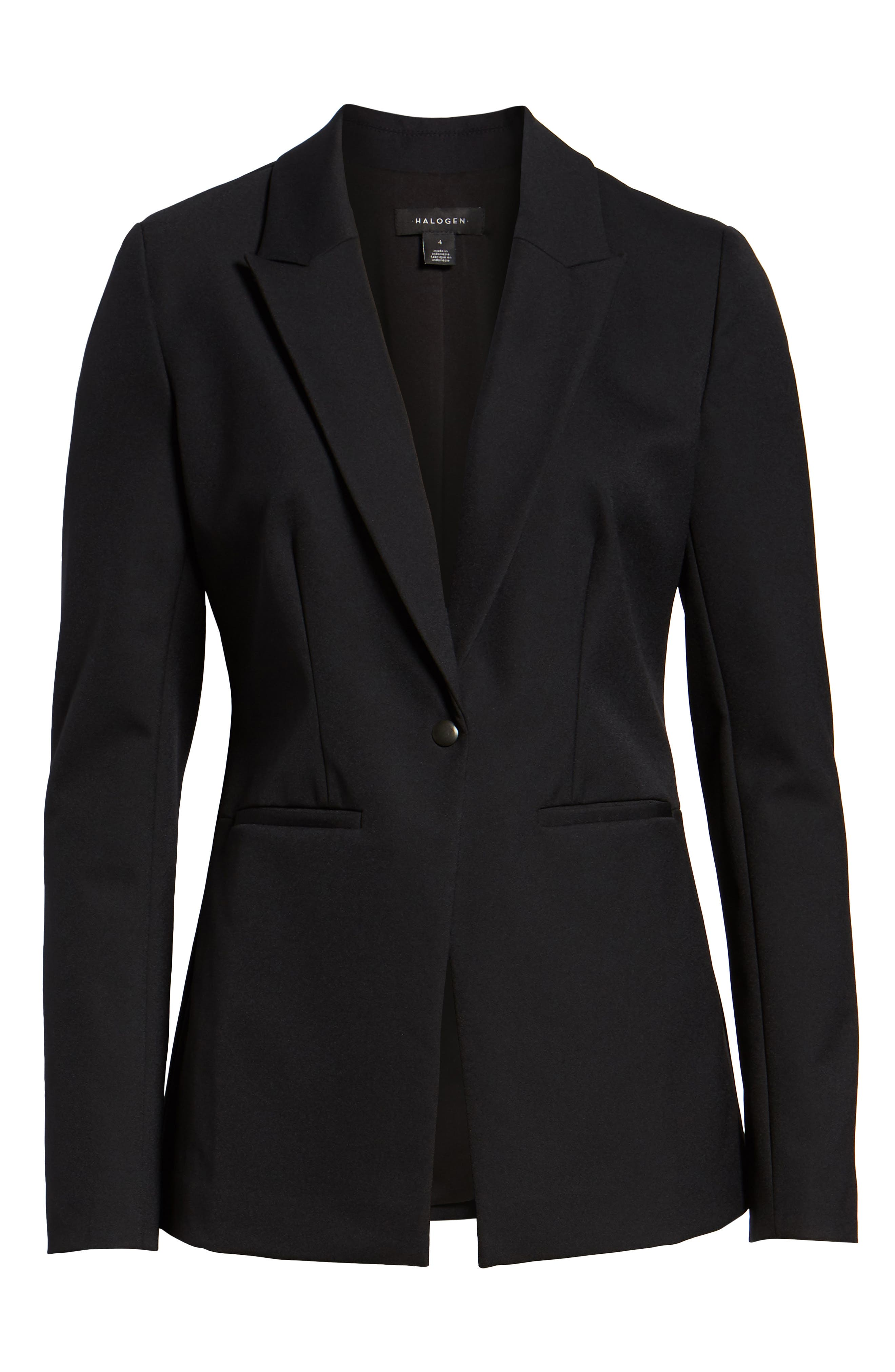 Fitted Blazer,                             Alternate thumbnail 6, color,                             001