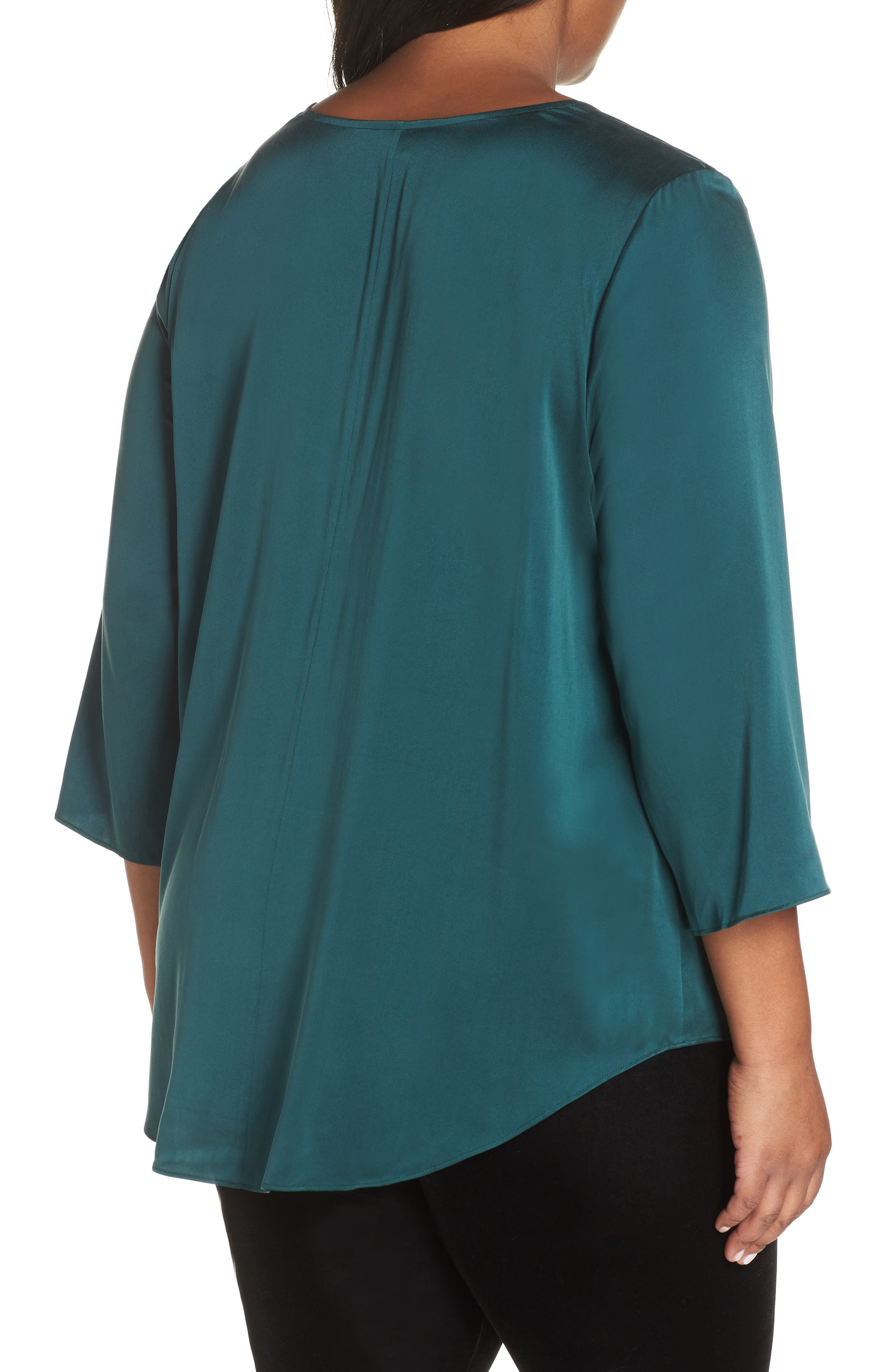 Stretch Silk Top,                             Alternate thumbnail 2, color,                             303