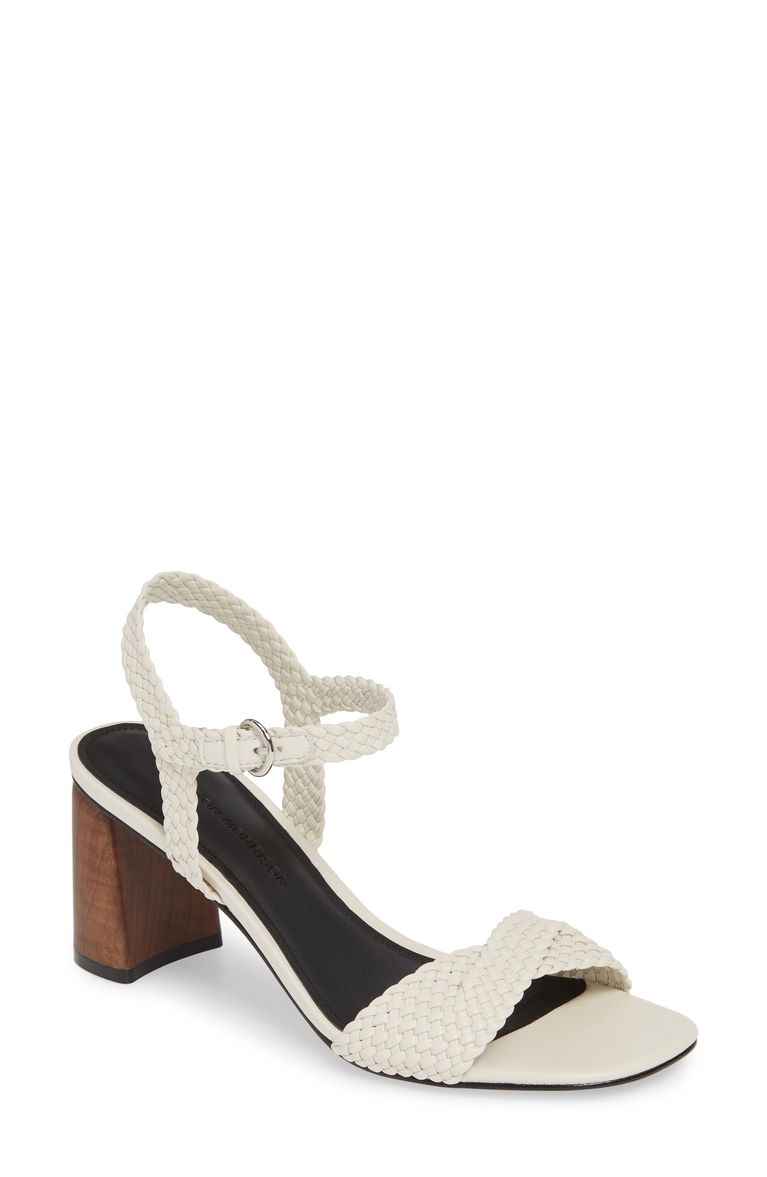 Sigerson Morrison Darby Woven Sandal White