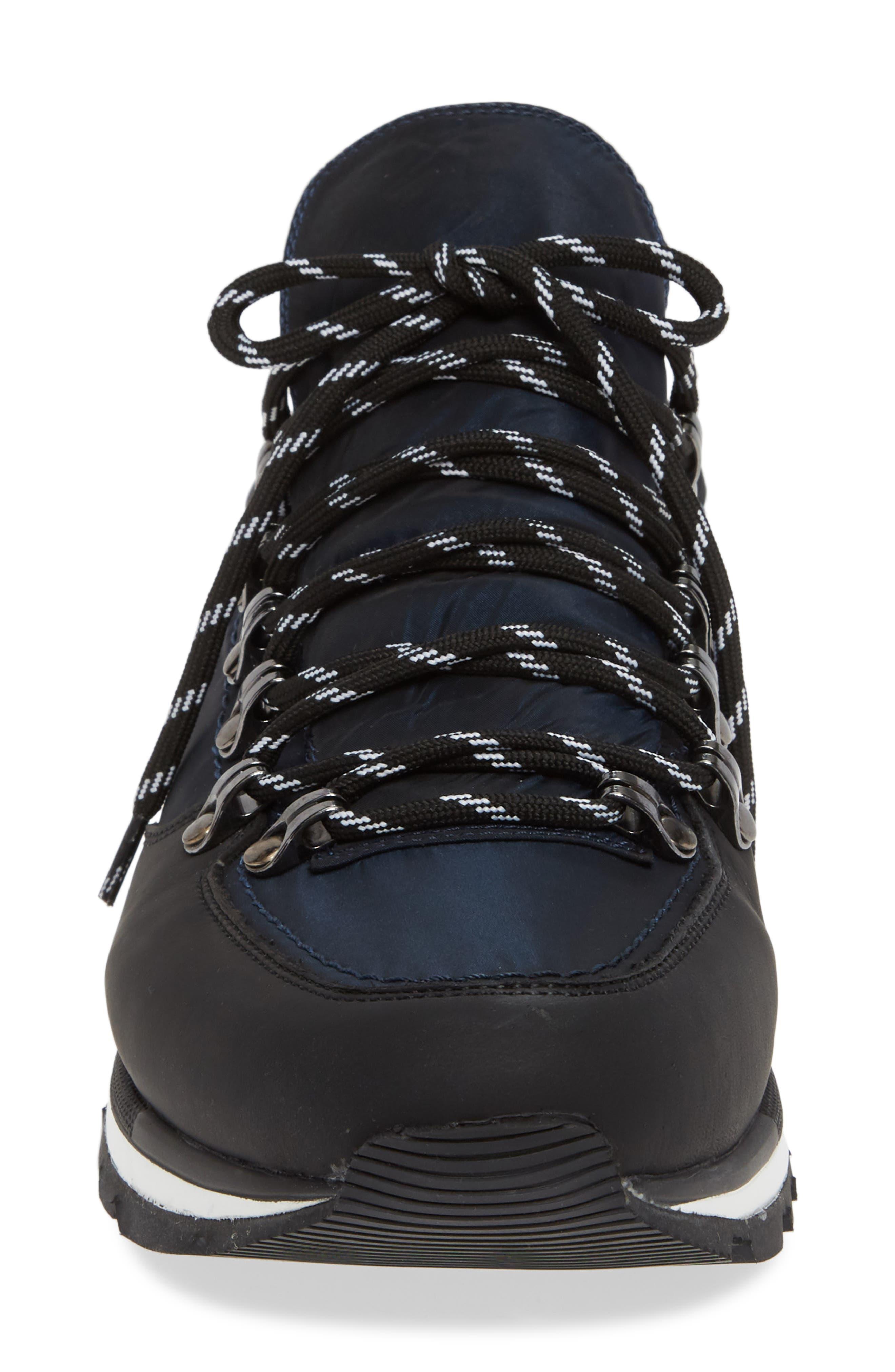 Low Top Hiker Sneaker,                             Alternate thumbnail 4, color,                             NAVY