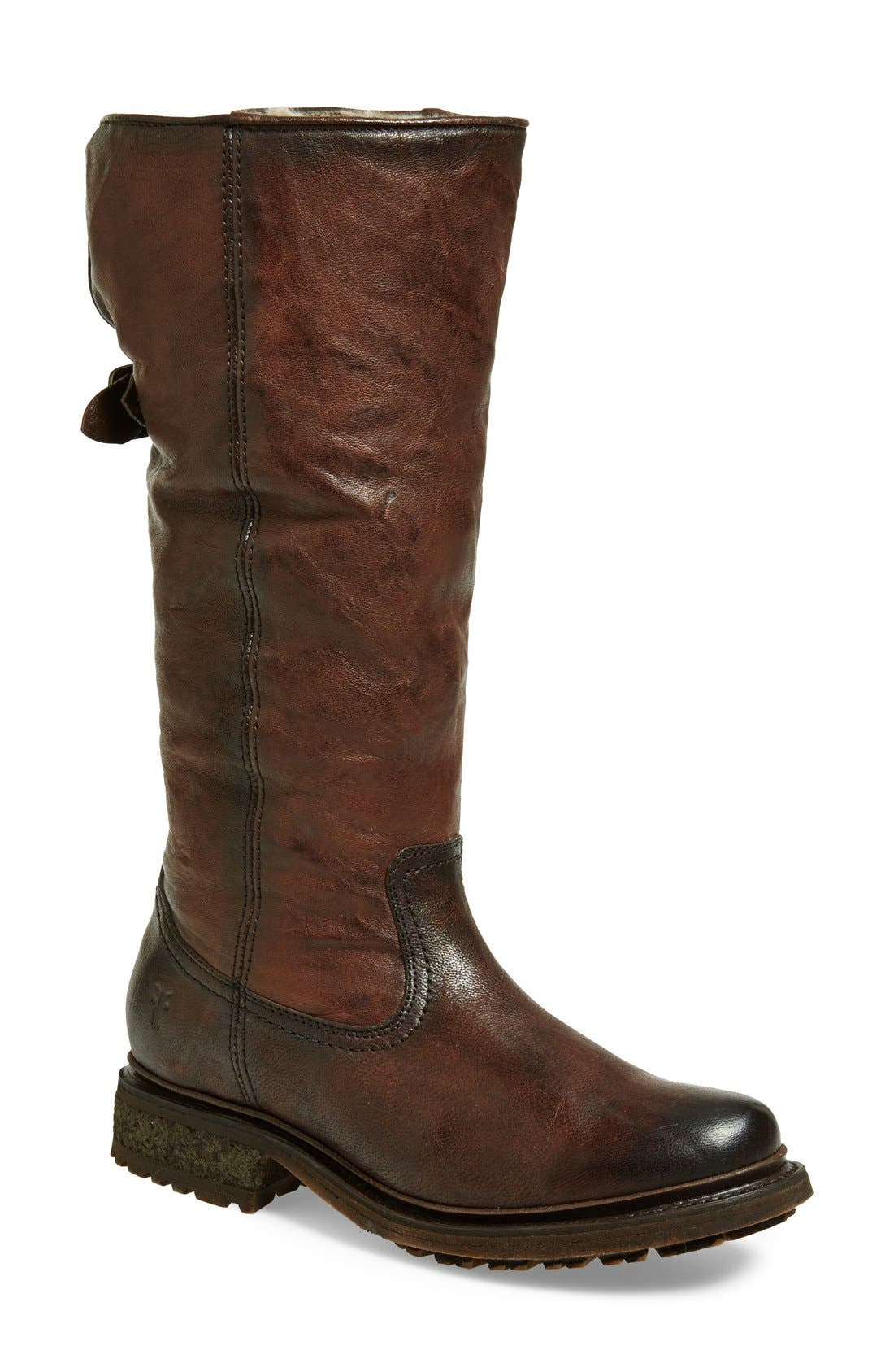 'Valerie' Pull On Shearling Boot,                             Main thumbnail 3, color,