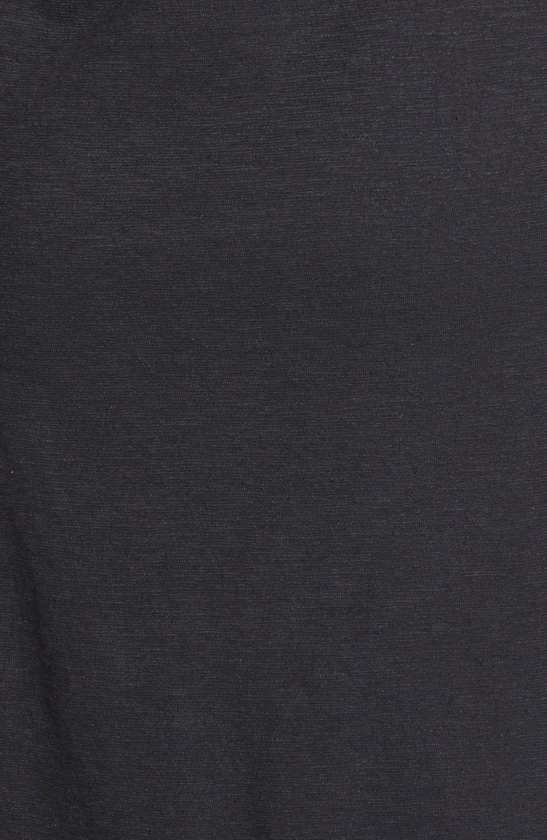 Hemp & Organic Cotton Deep V-Neck Dress,                             Alternate thumbnail 3, color,                             001