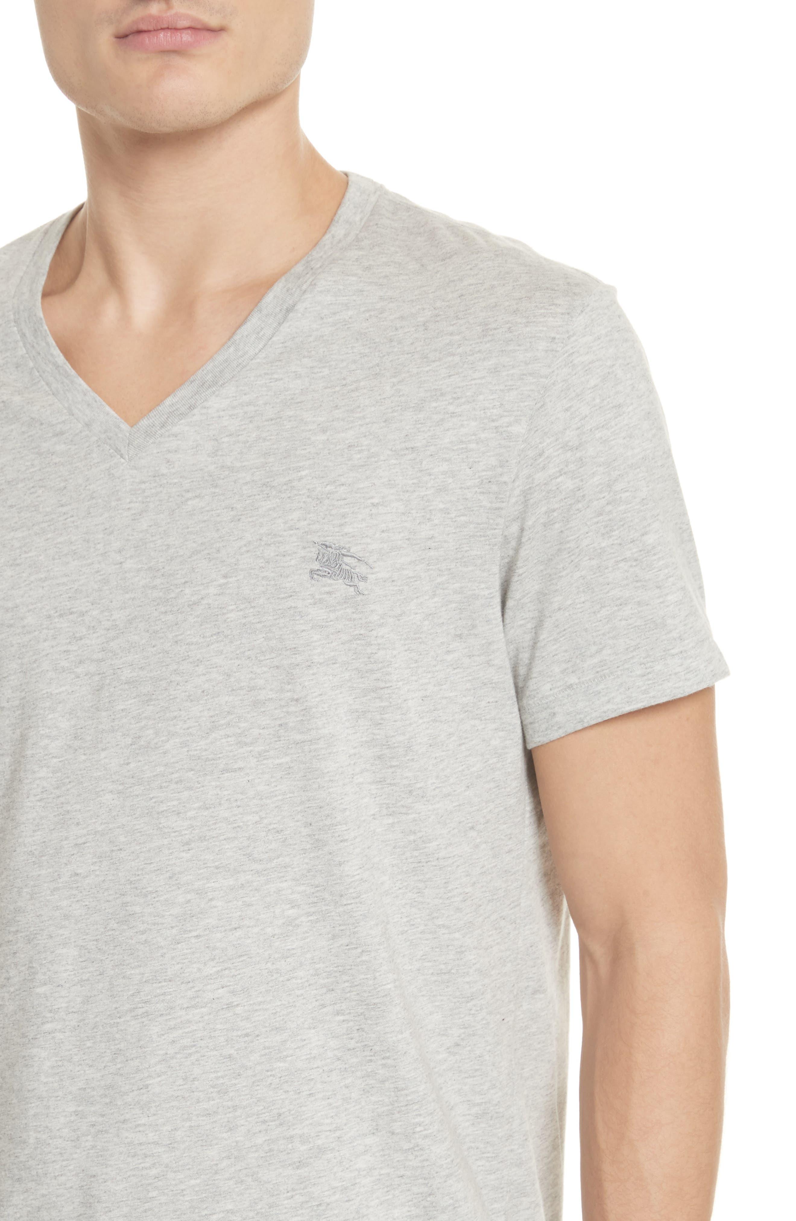 Jadforth V-Neck T-Shirt,                             Alternate thumbnail 4, color,                             PALE GREY MELANGE