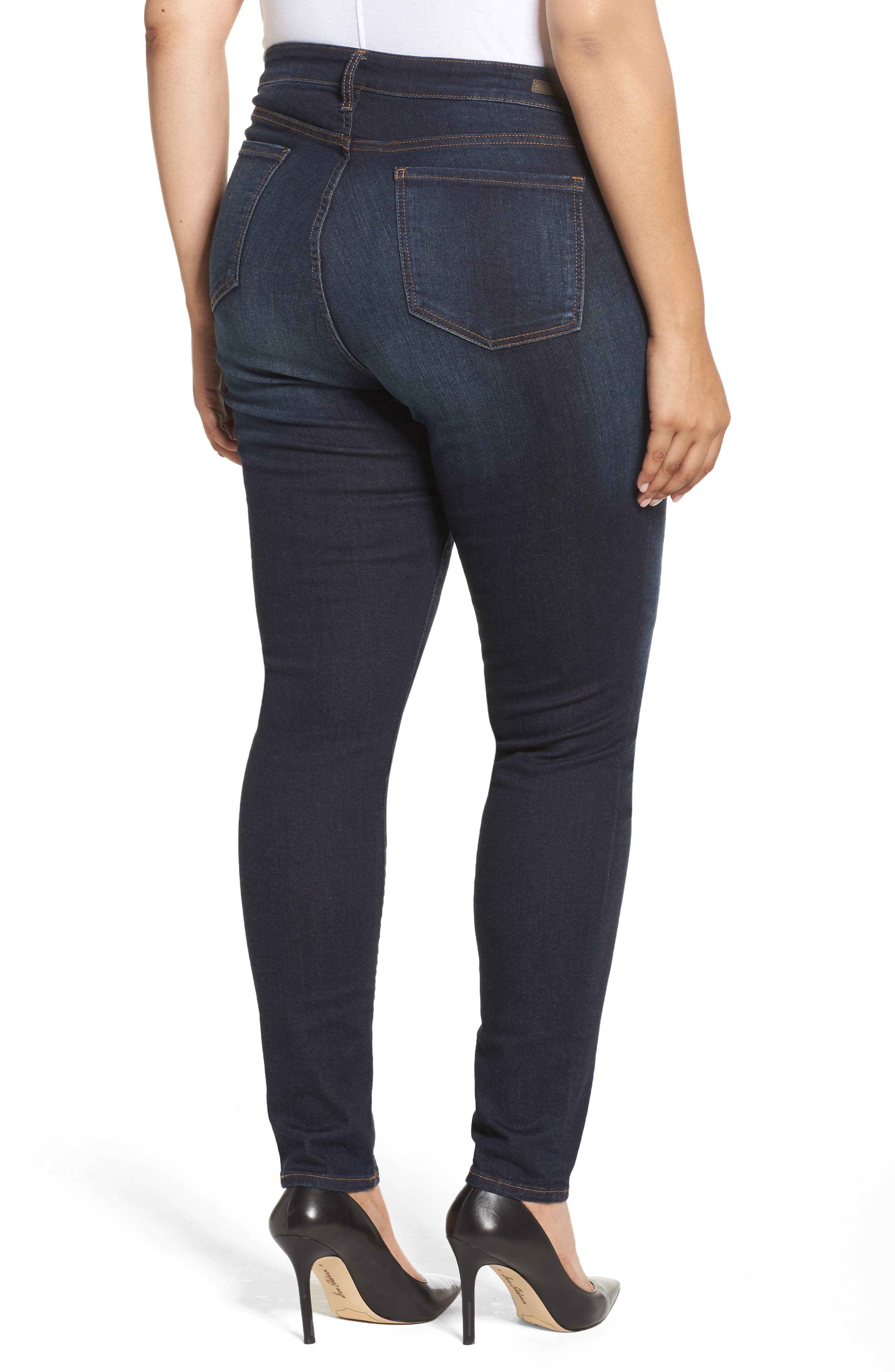 Diana Skinny Jeans,                             Alternate thumbnail 2, color,                             BLINDING W/ EURO BASE WASH