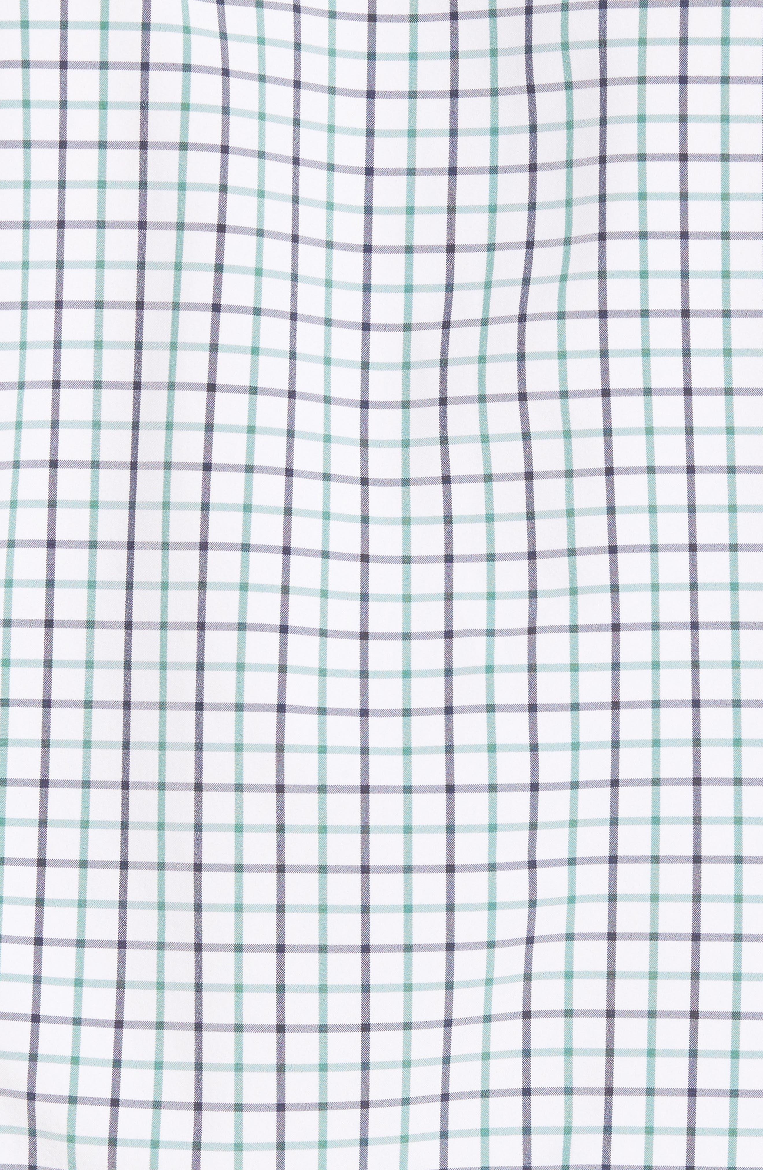 Ellis Slim Fit Tattersall Sport Shirt,                             Alternate thumbnail 5, color,                             360