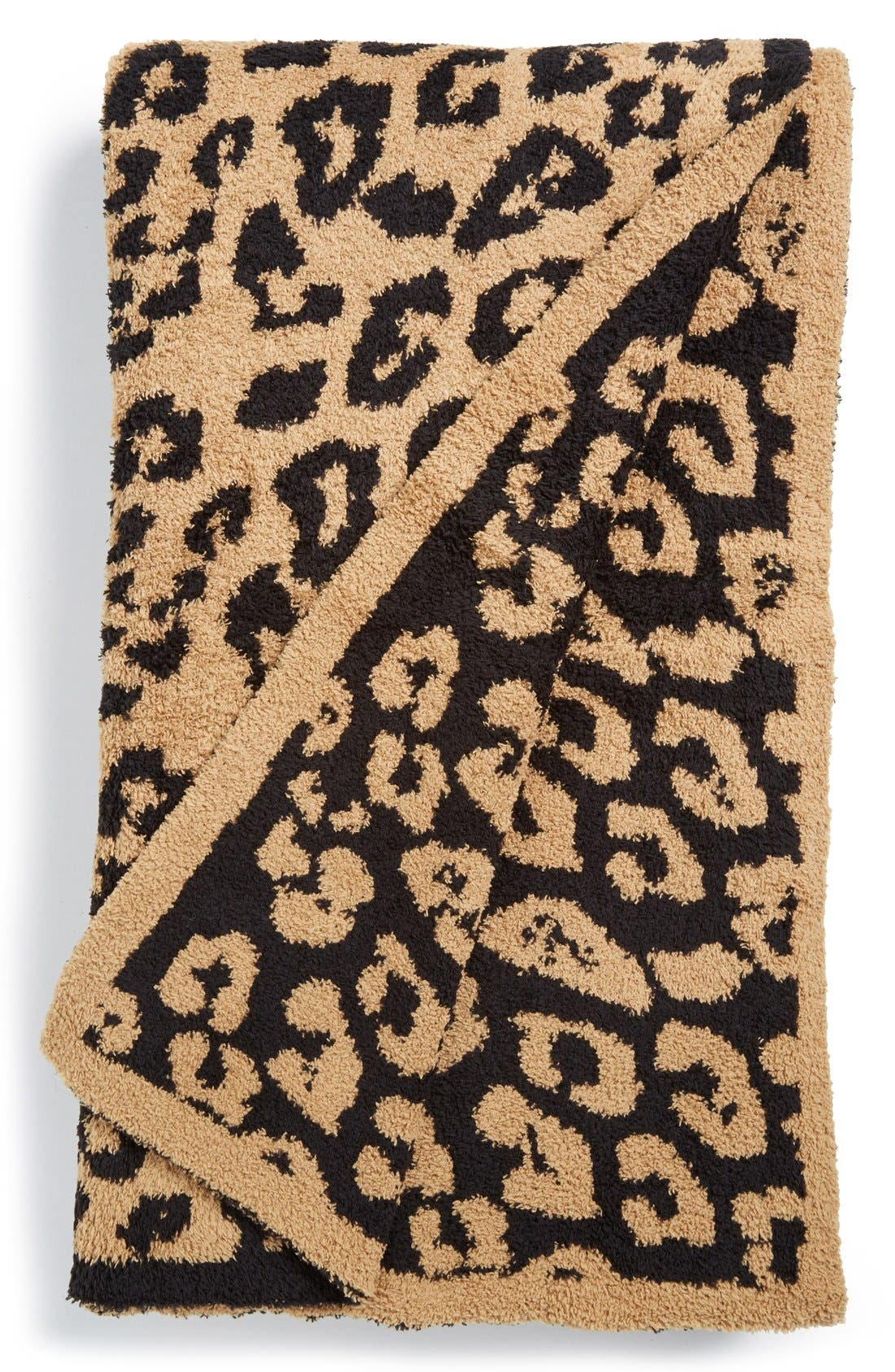 CozyChic 'In the Wild' Throw Blanket,                         Main,                         color, MIDNIGHT/ CAMEL