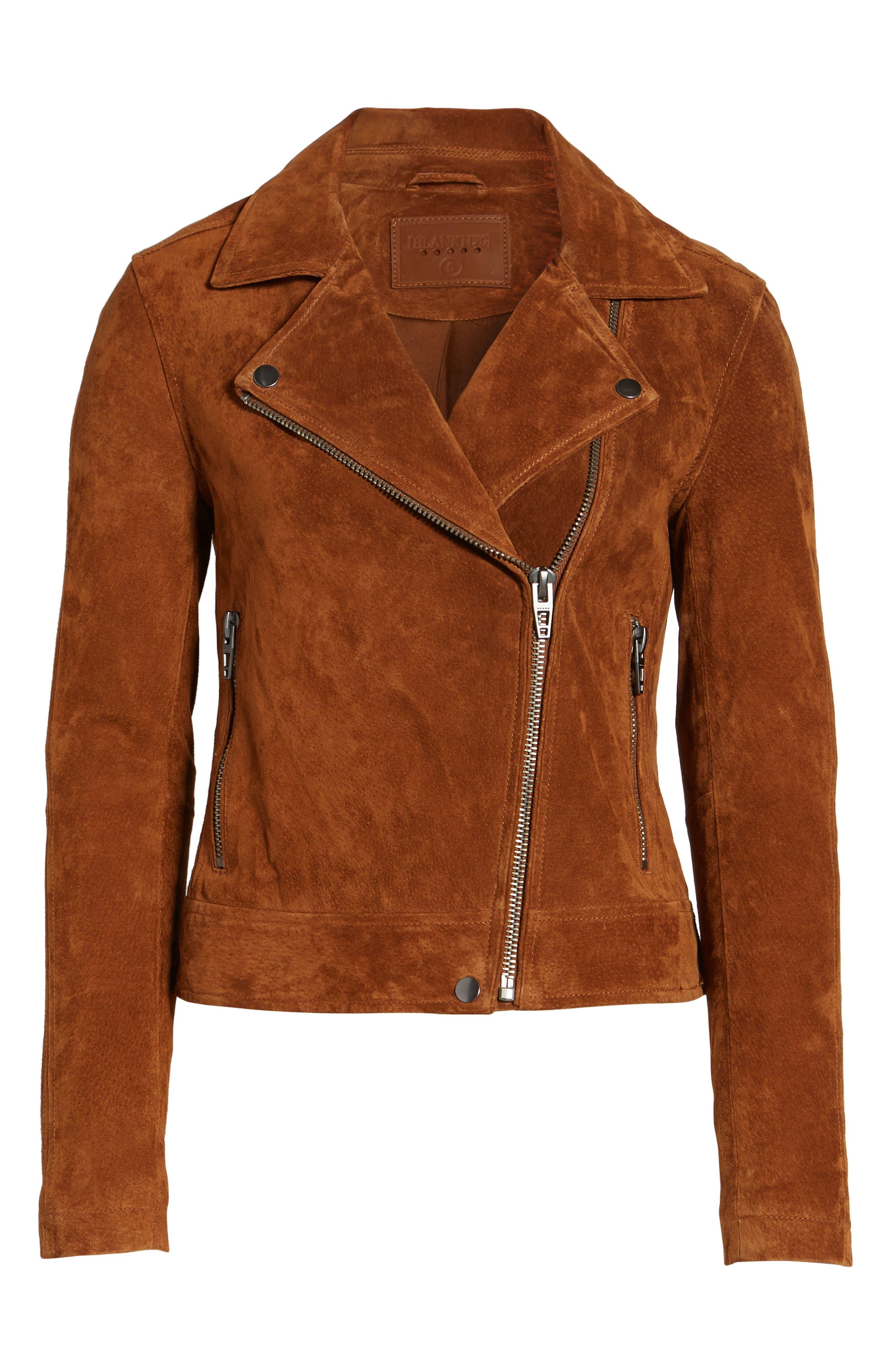 Suede Moto Jacket,                             Alternate thumbnail 43, color,