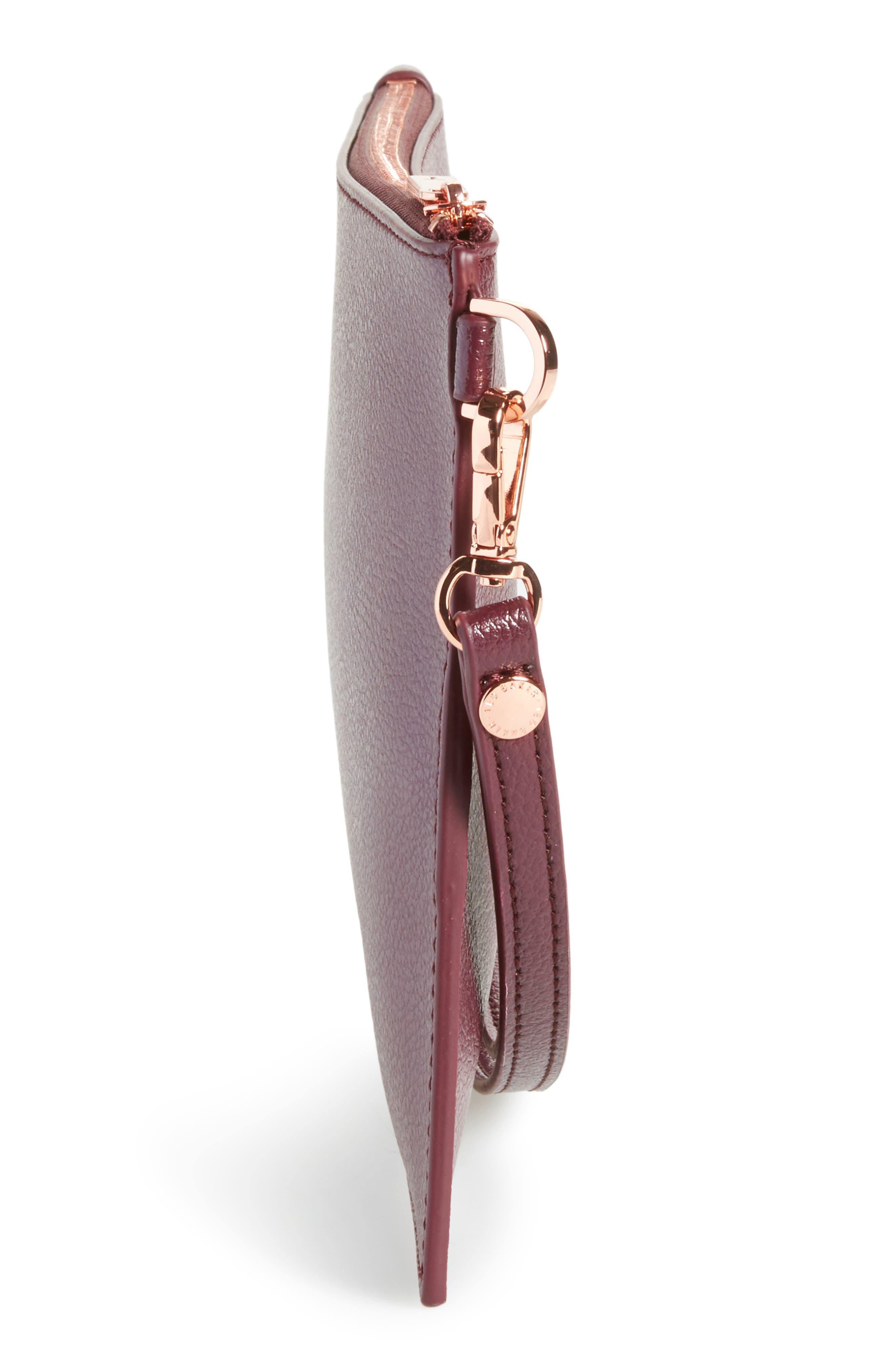 Top Zip Faux Leather Pouch,                             Alternate thumbnail 23, color,