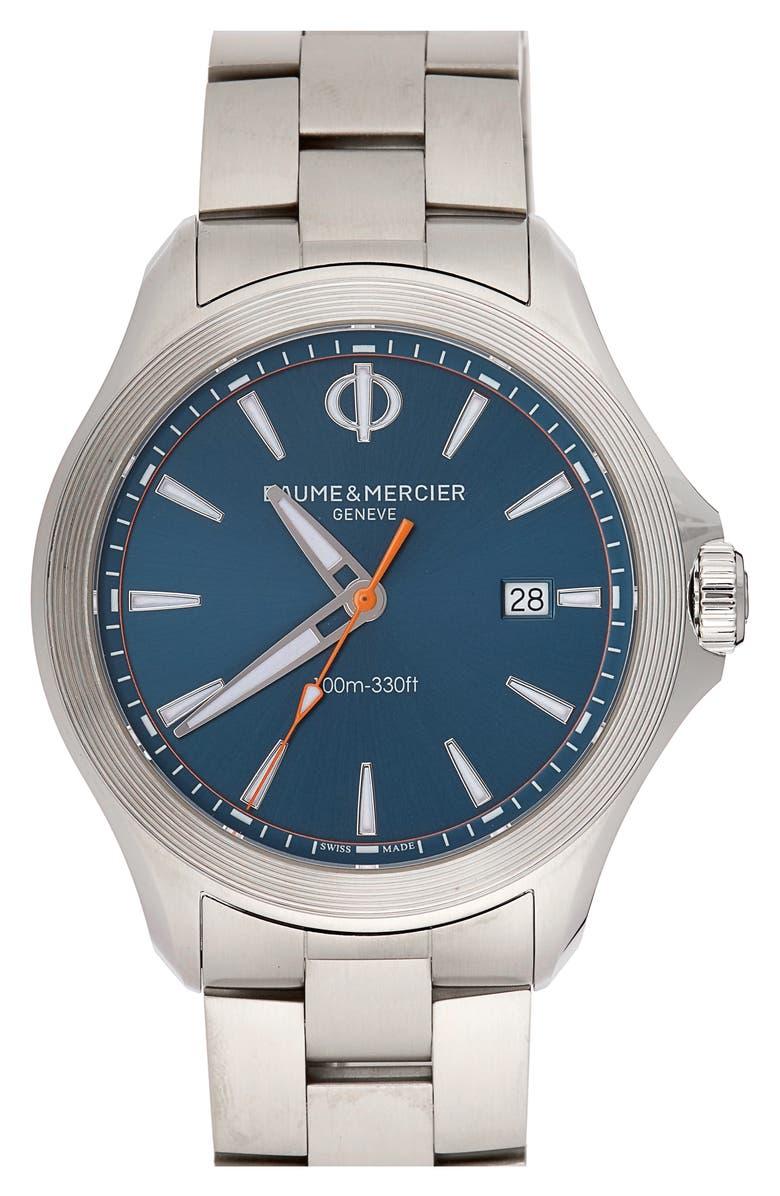 Baume & Mercier Clifton Automatic Bracelet Watch, 42Mm In Silver