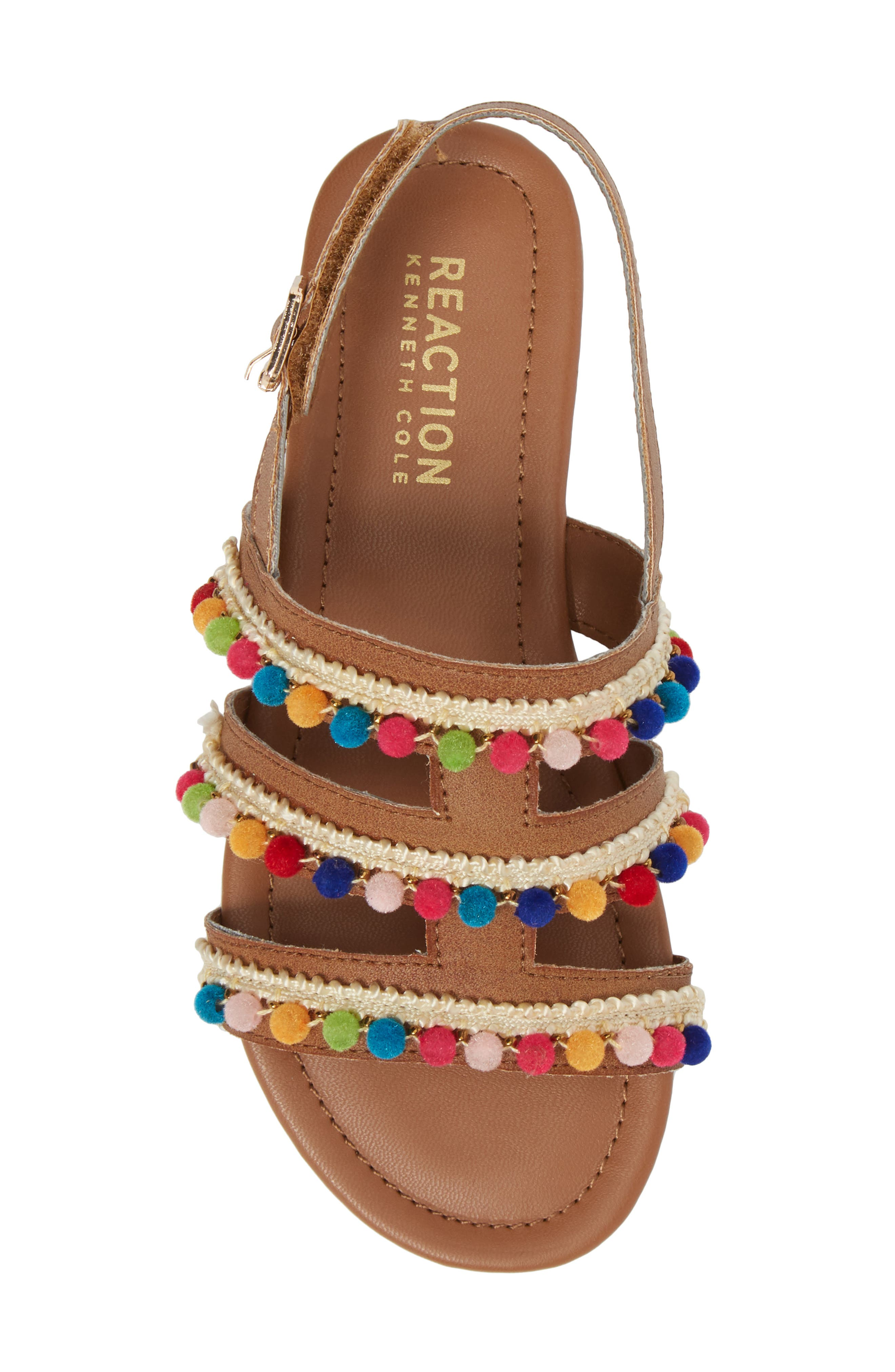 Kiera Pom Embellished Sandal,                             Alternate thumbnail 5, color,                             259