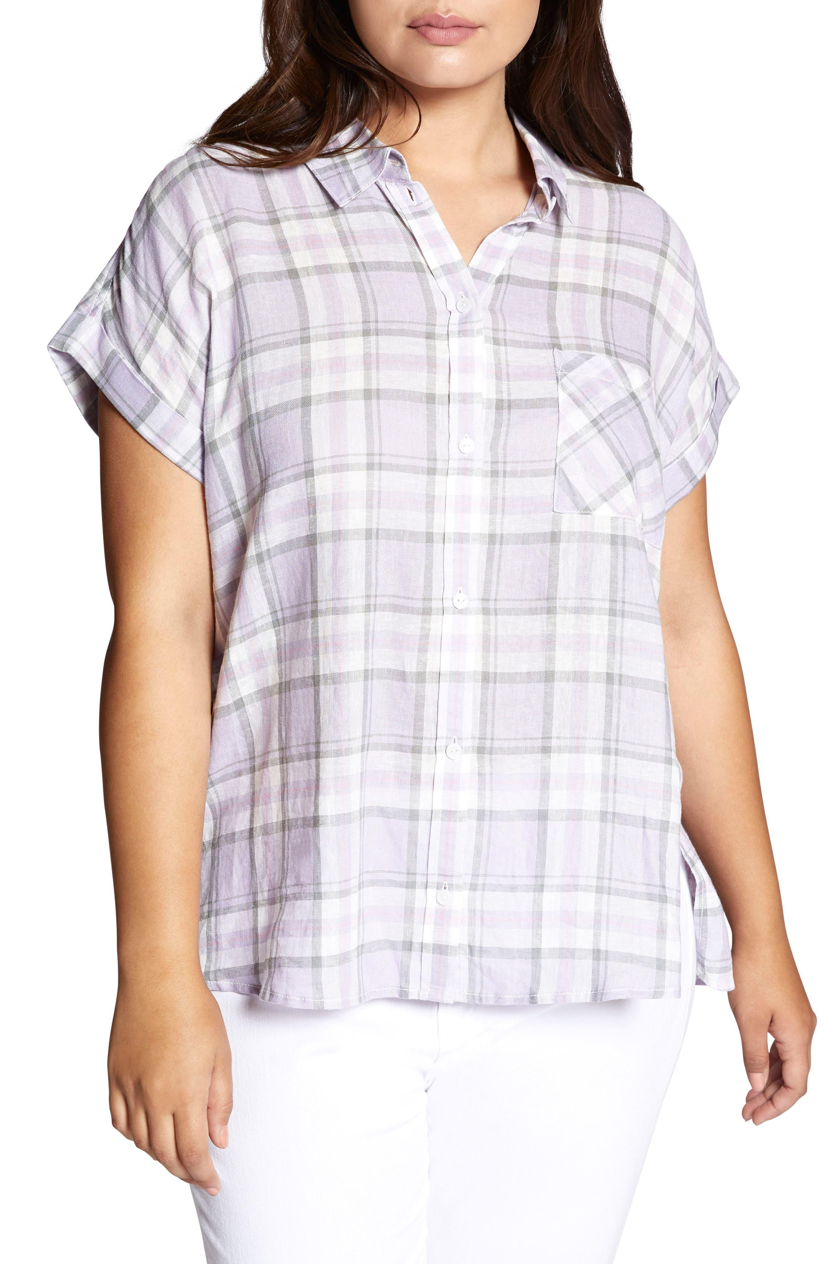 Mod Short Sleeve Boyfriend Shirt,                         Main,                         color, 513