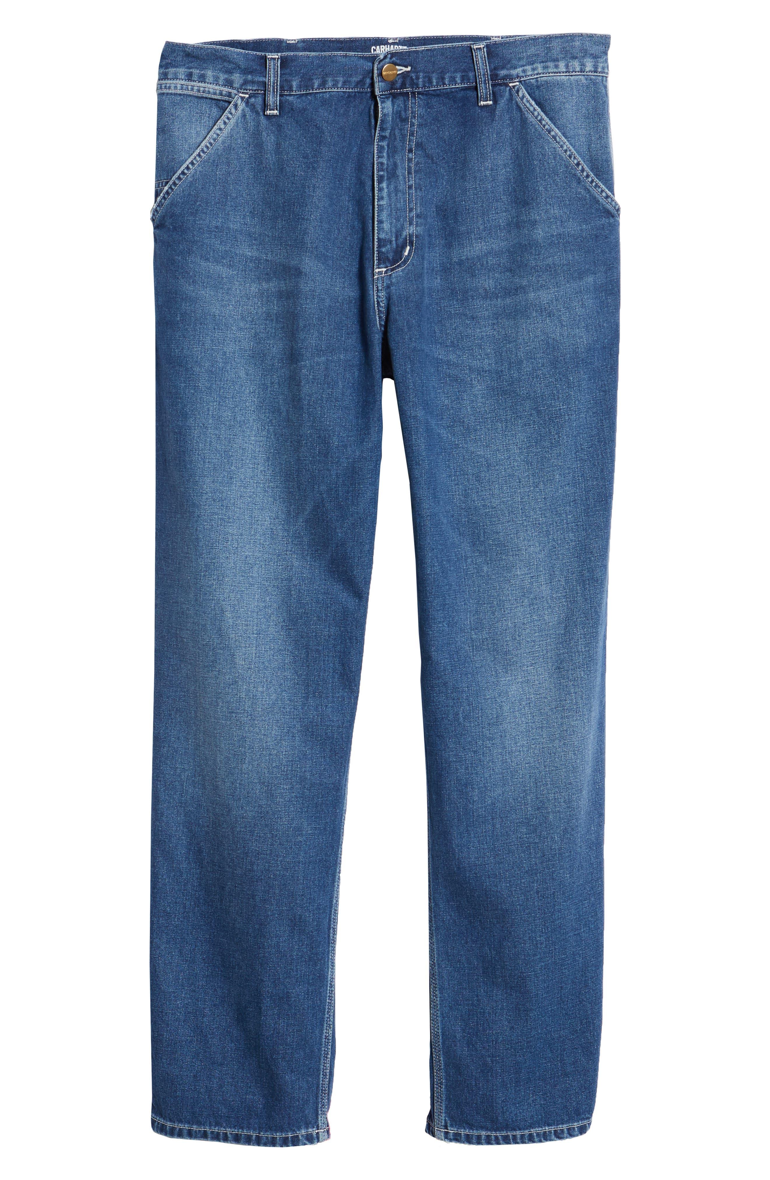 CARHARTT WORK IN PROGRESS,                             Simple Denim Jeans,                             Alternate thumbnail 7, color,                             BLUE