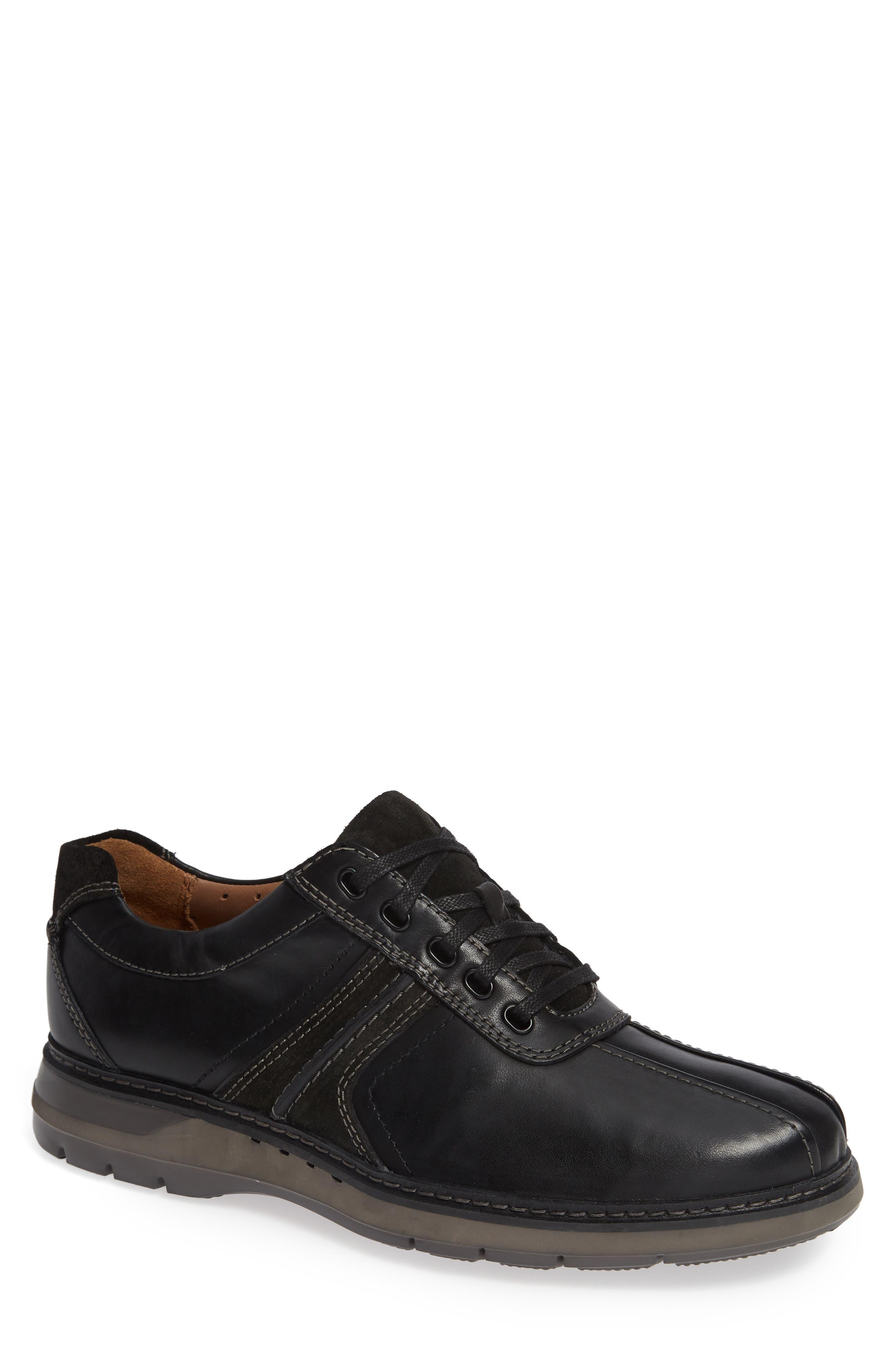 Un Ramble Go Sneaker,                             Main thumbnail 1, color,                             BLACK LEATHER