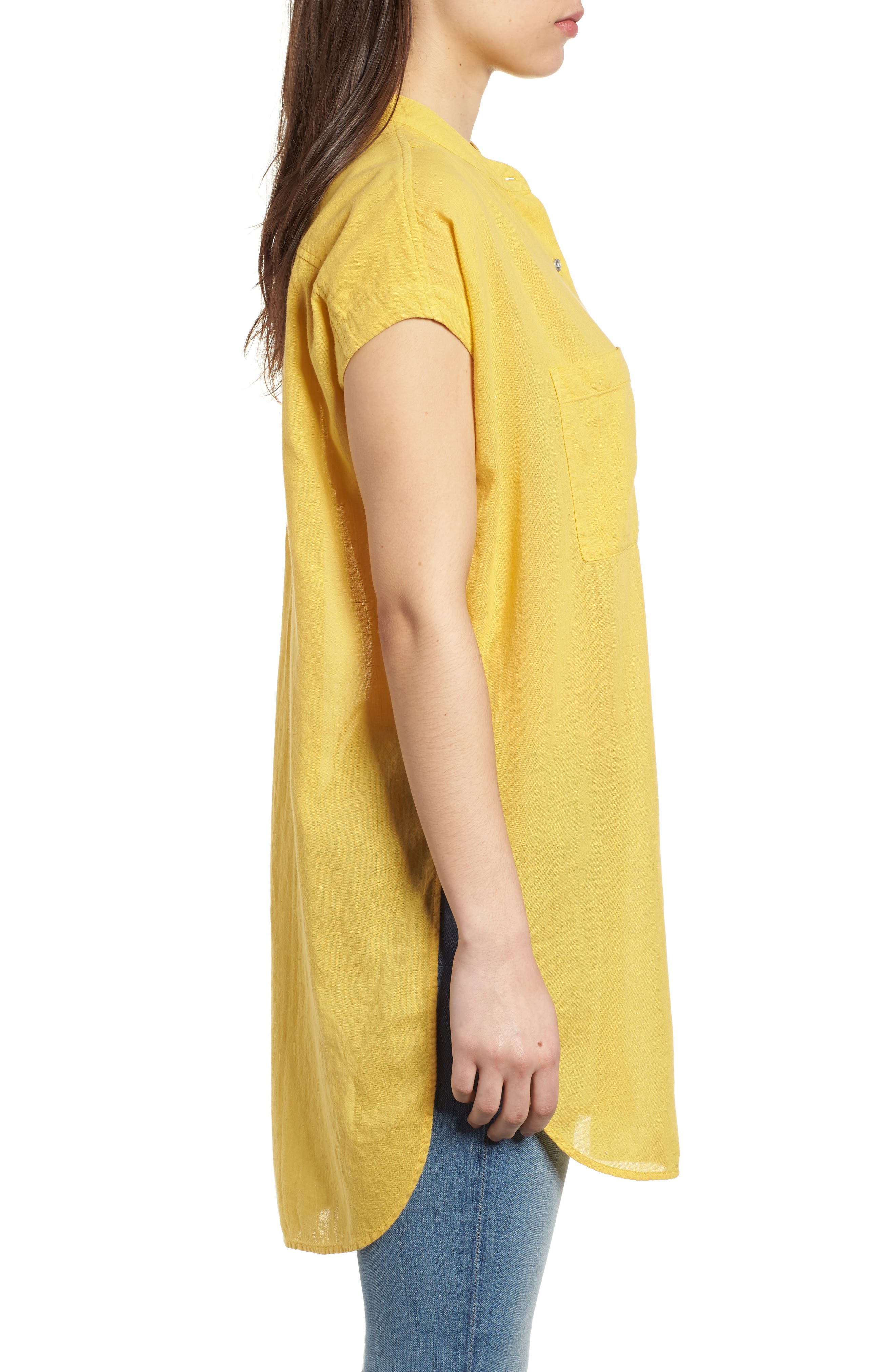 Button Front Longline Top,                             Alternate thumbnail 23, color,