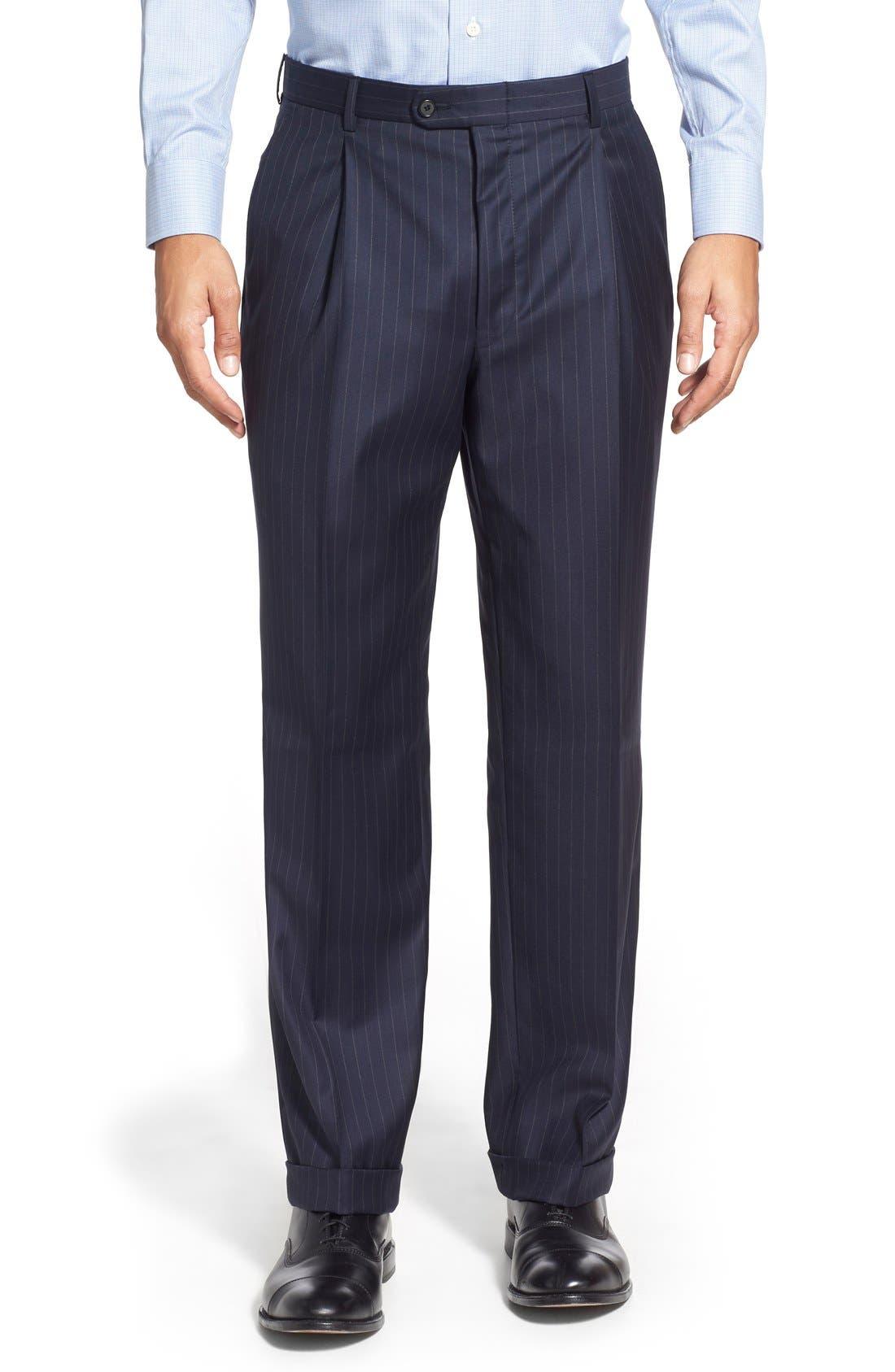 'Beacon - B Series' Classic Fit Stripe Wool Suit,                             Alternate thumbnail 6, color,                             400
